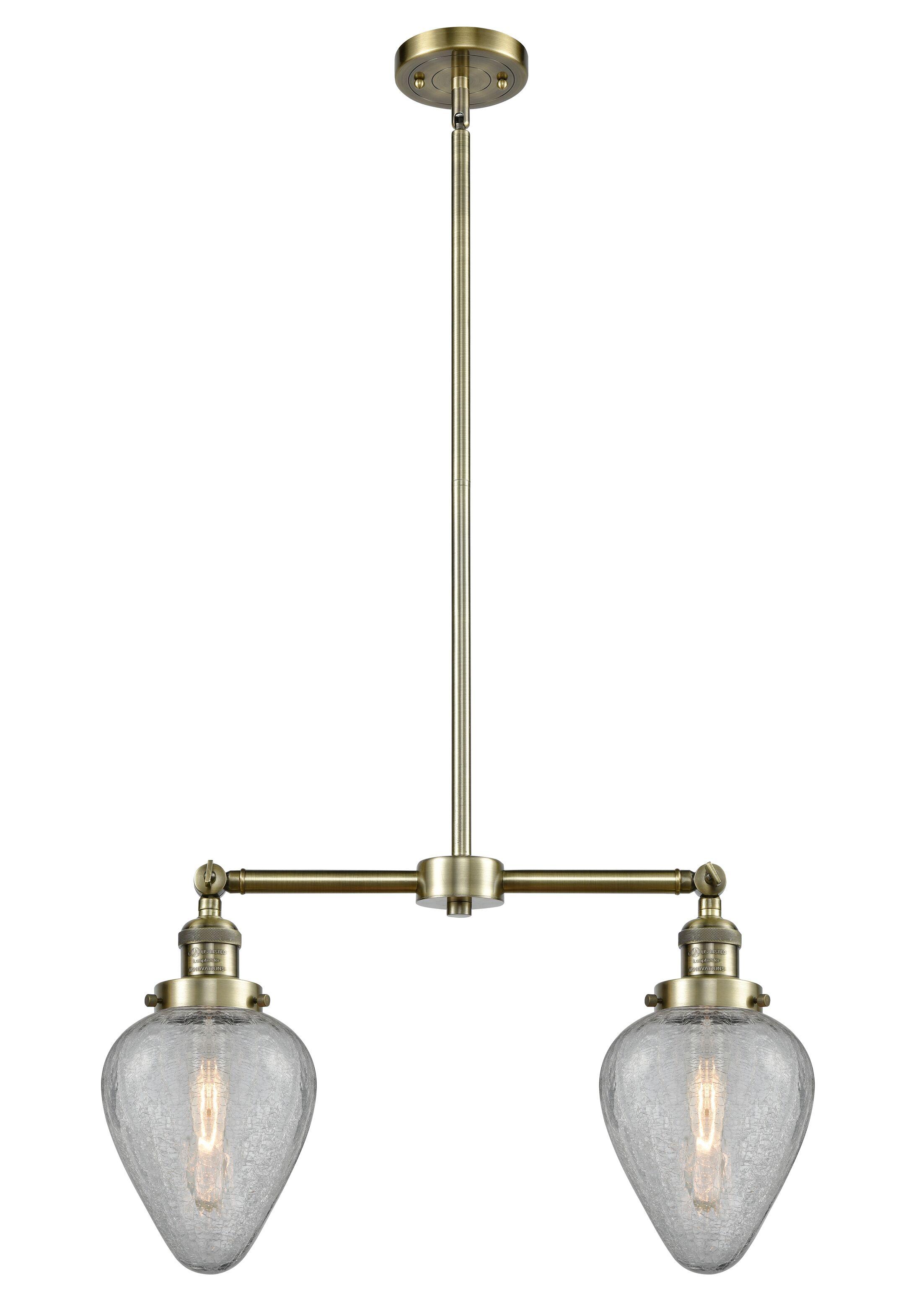 Bontrager 2-Light Kitchen Island Pendant Bulb Type: LED, Finish: Polished Chrome