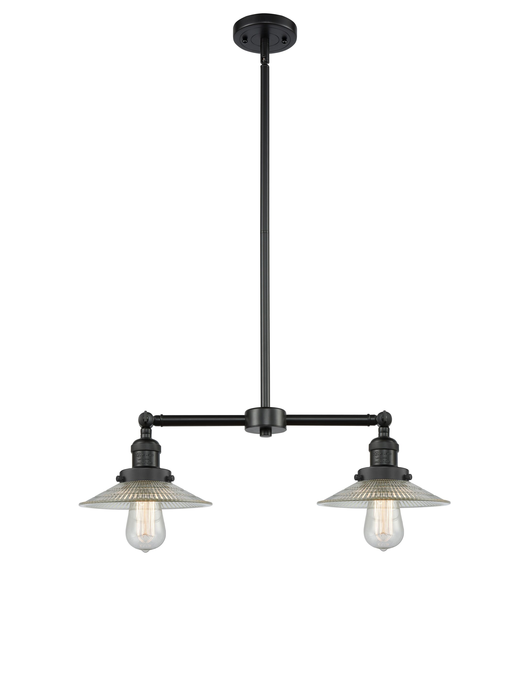 Briar 2-Light Kitchen Island Pendant Bulb Type: LED, Finish: Matte Black
