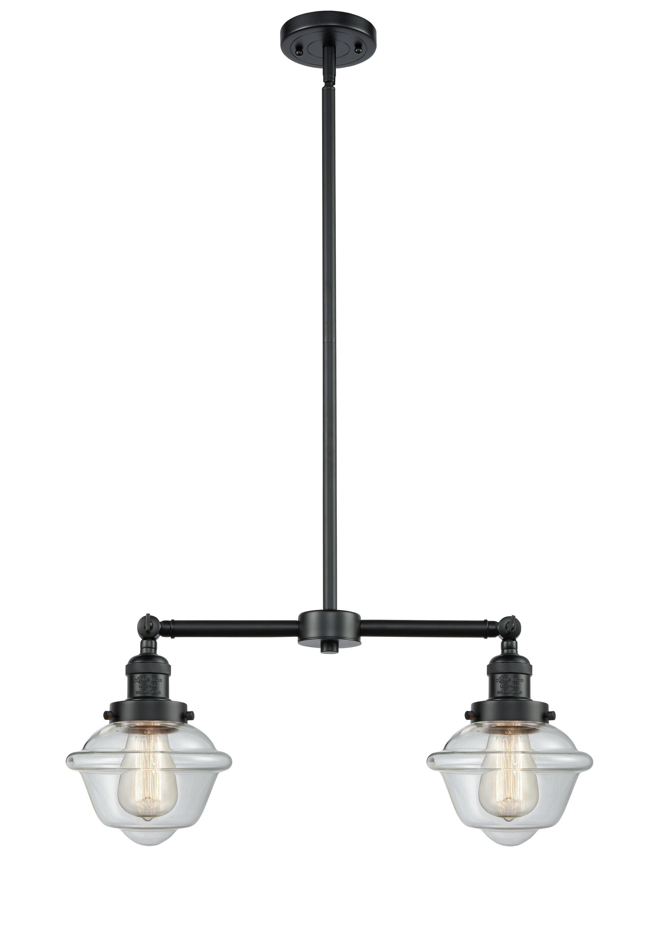 Calliope 2-Light Kitchen Island Pendant Bulb Type: Incandescent, Shade Color: Seedy, Finish: Oil Rubbed Bronze
