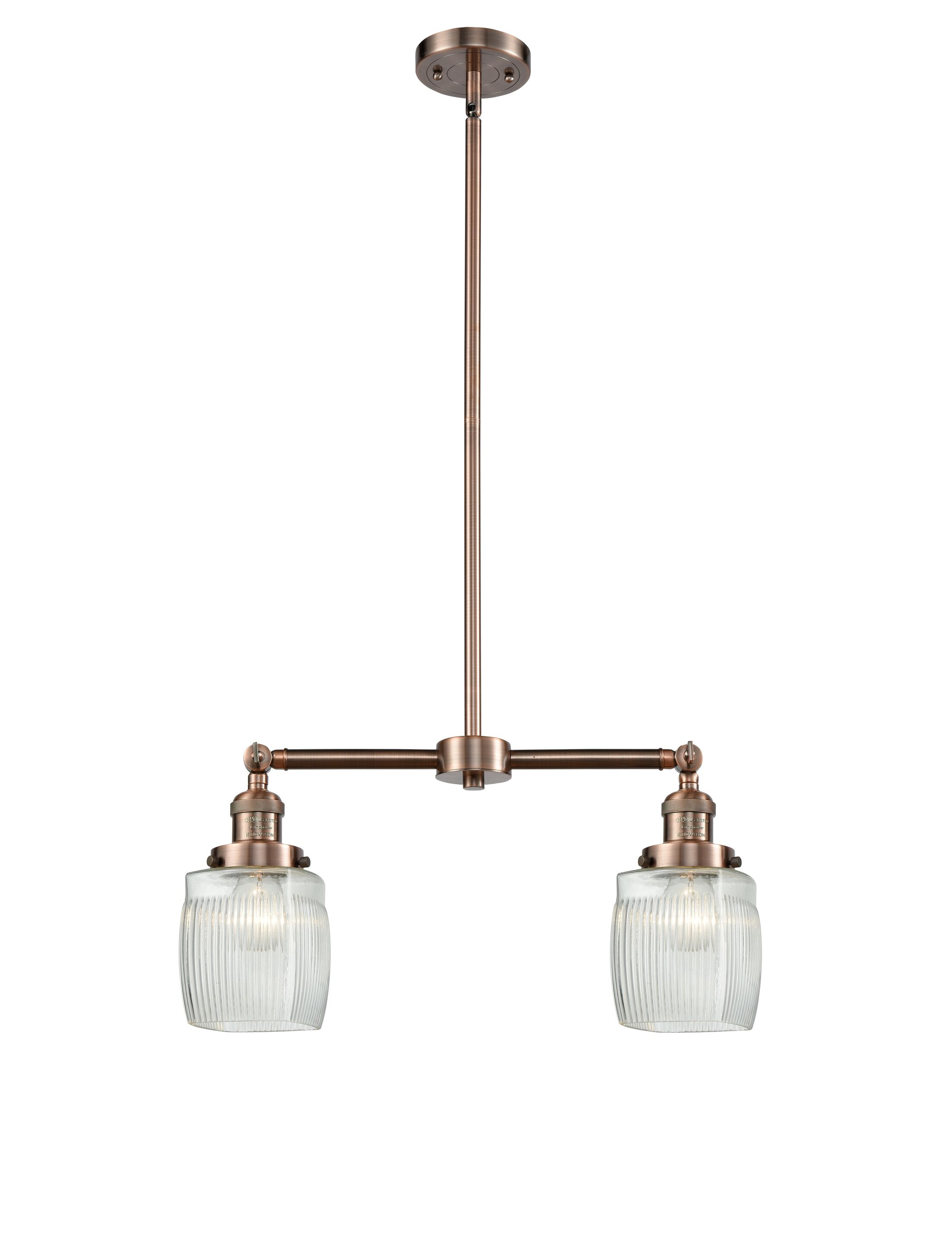 Mireya 2-Light Kitchen Island Pendant Bulb Type: LED, Finish: Antique Copper