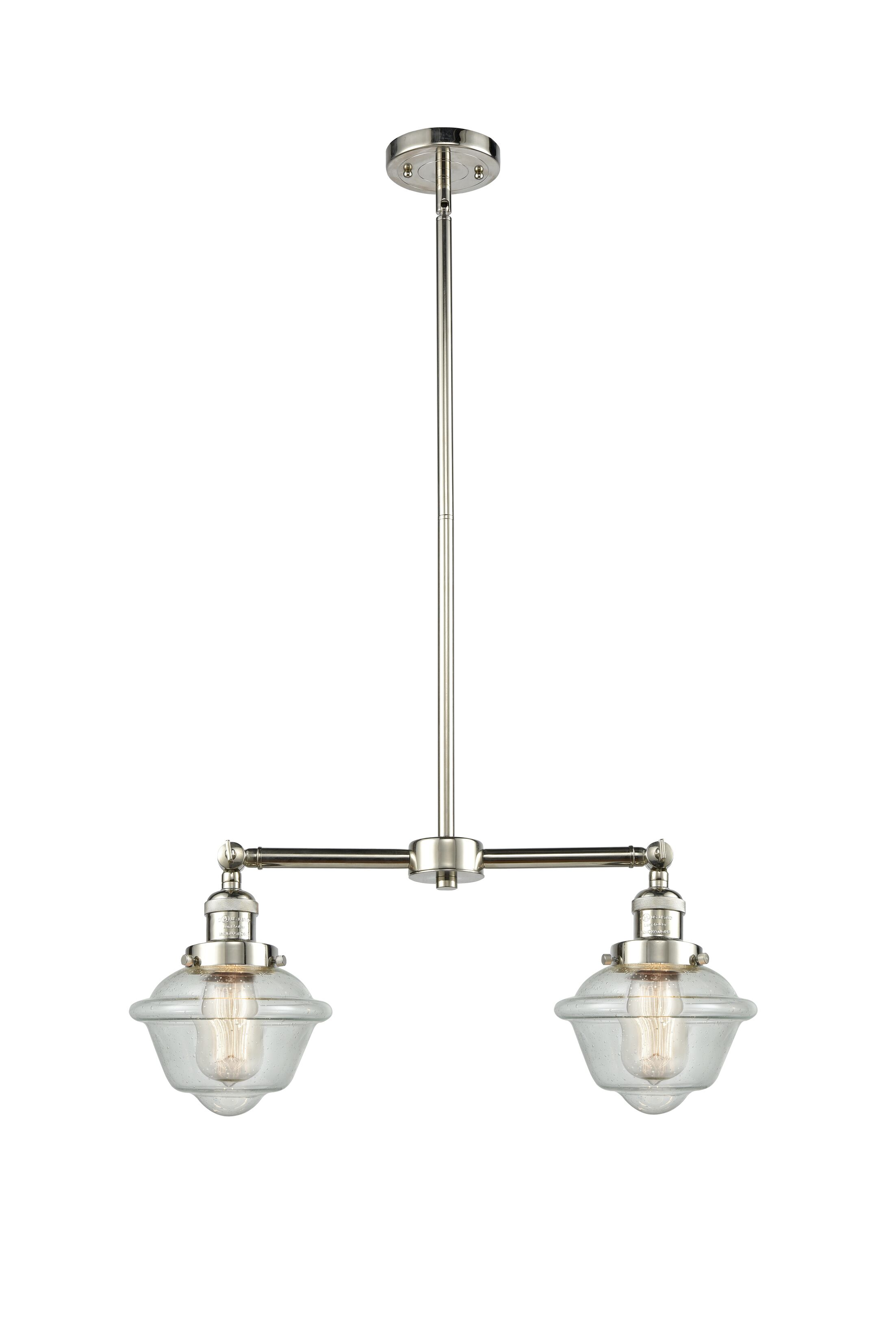 Calliope 2-Light Kitchen Island Pendant Bulb Type: LED, Shade Color: Clear, Finish: Polished Nickel