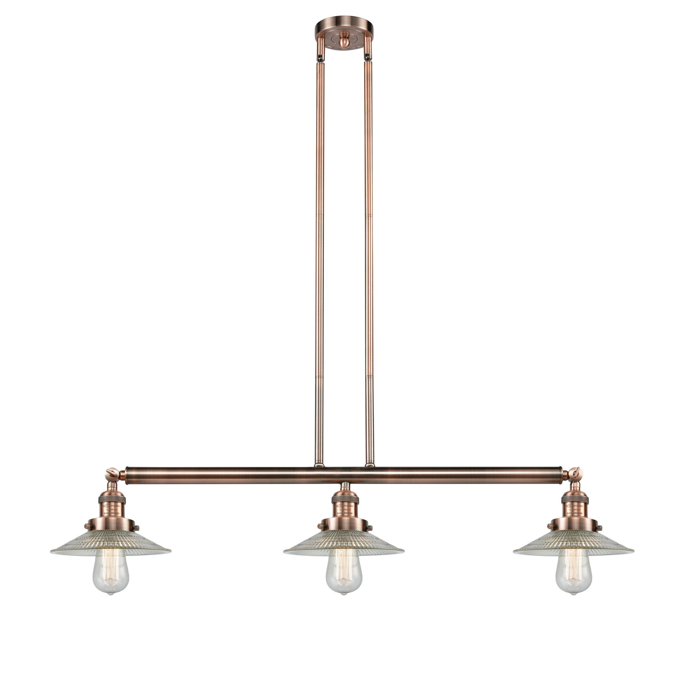 Briar 3-Light Kitchen Island Pendant Bulb Type: Incandescent, Finish: Antique Copper