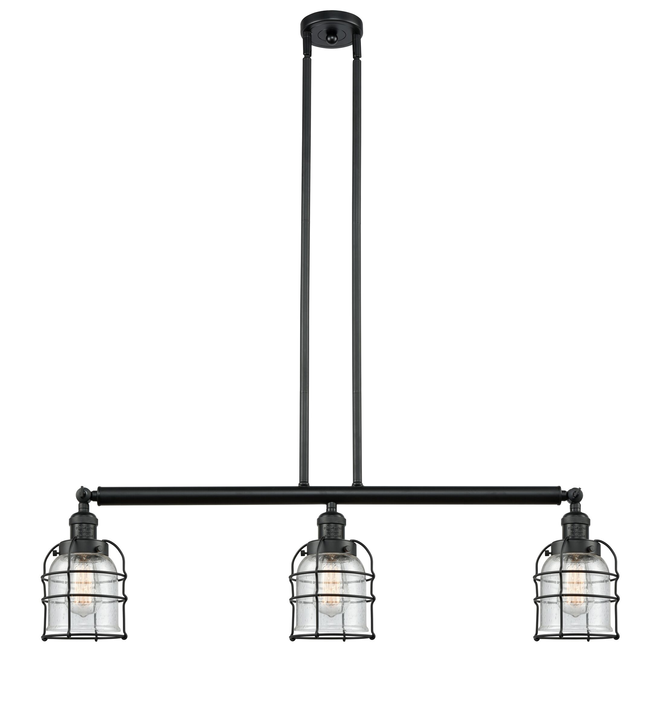 Mitchell 3-Light Kitchen Island Pendant Bulb Type: LED, Shade Color: Clear