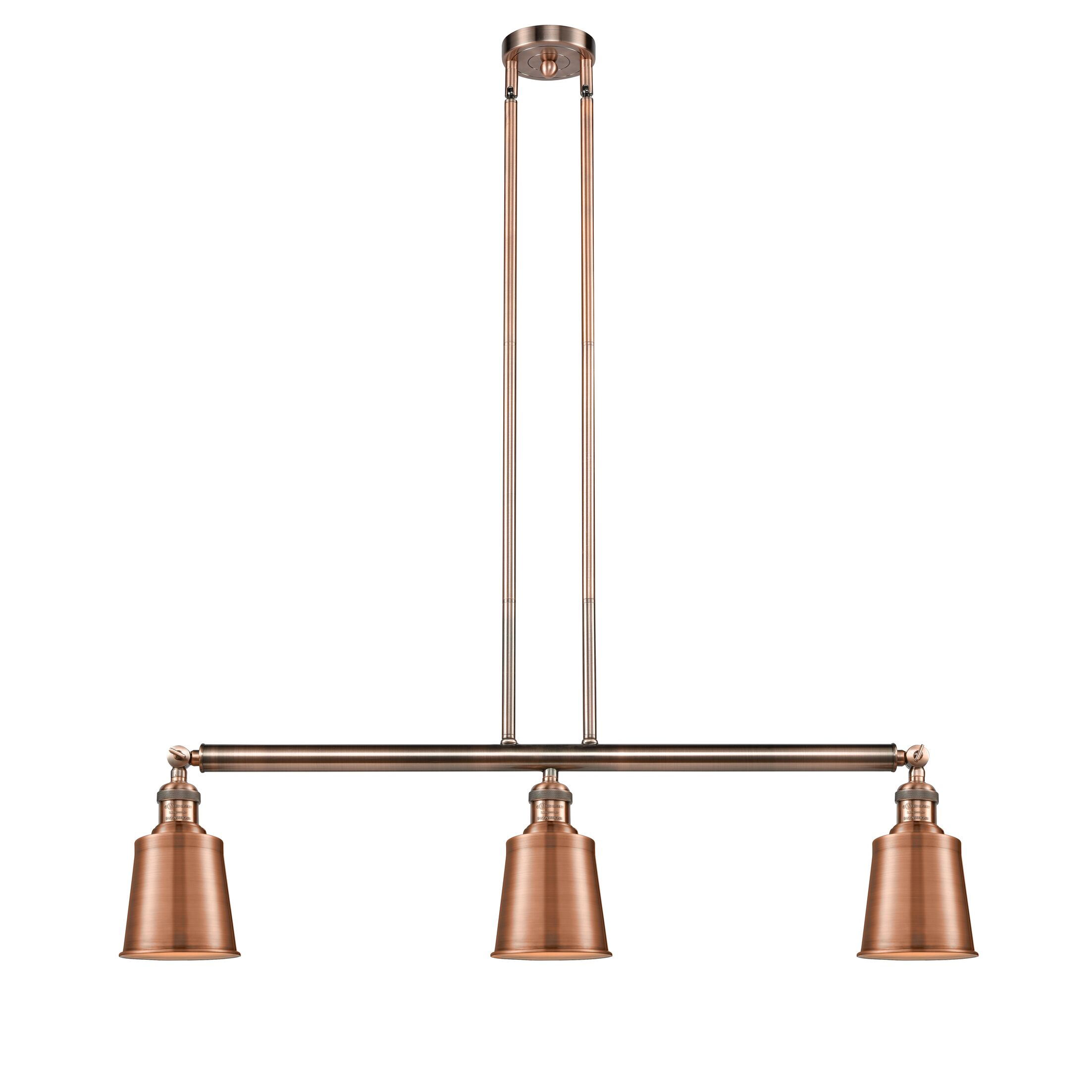 Carn 3-Light Kitchen Island Pendant Bulb Type: LED, Finish: Antique Copper