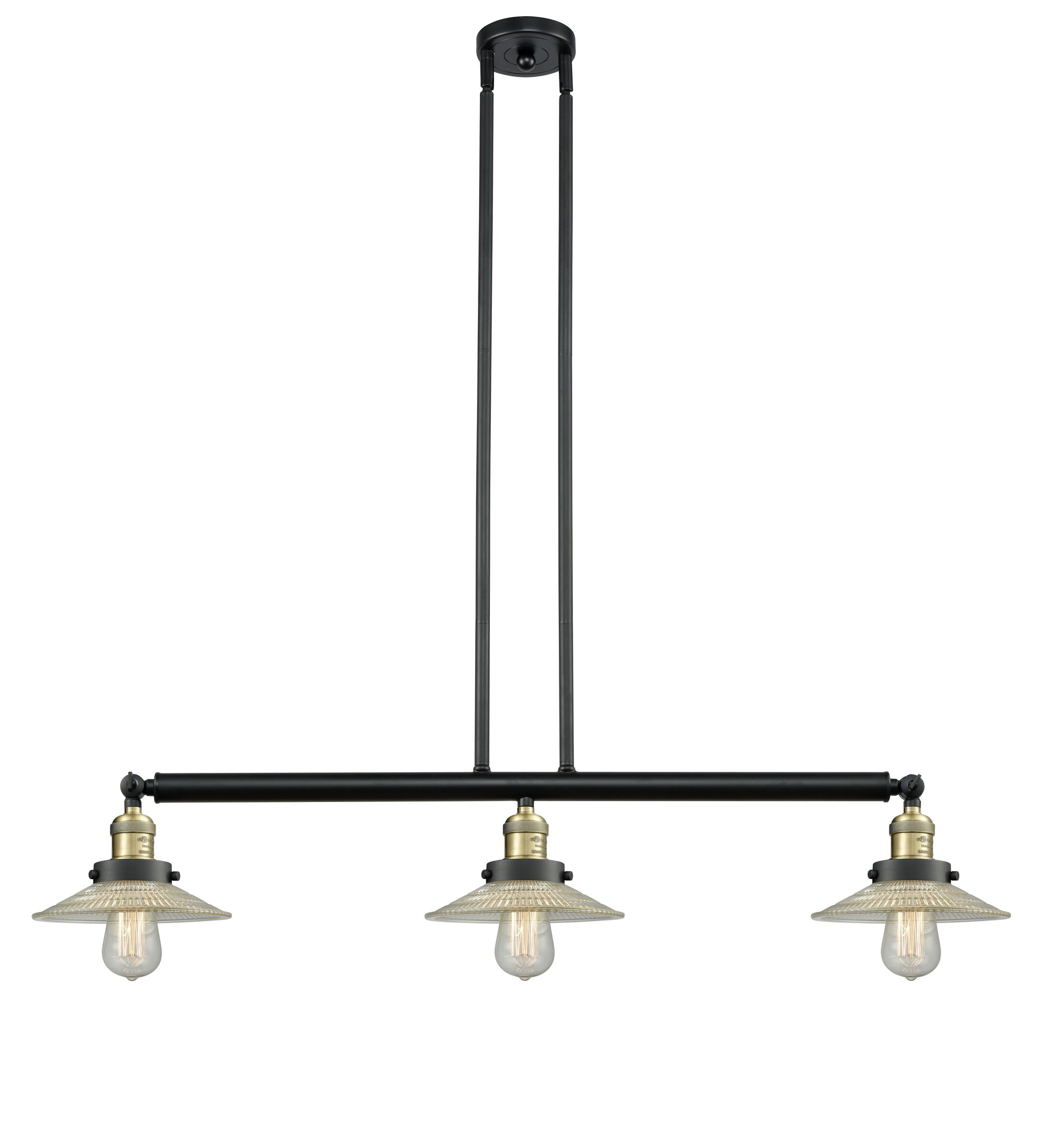 Briar 3-Light Kitchen Island Pendant Bulb Type: LED, Finish: Black Antique Brass