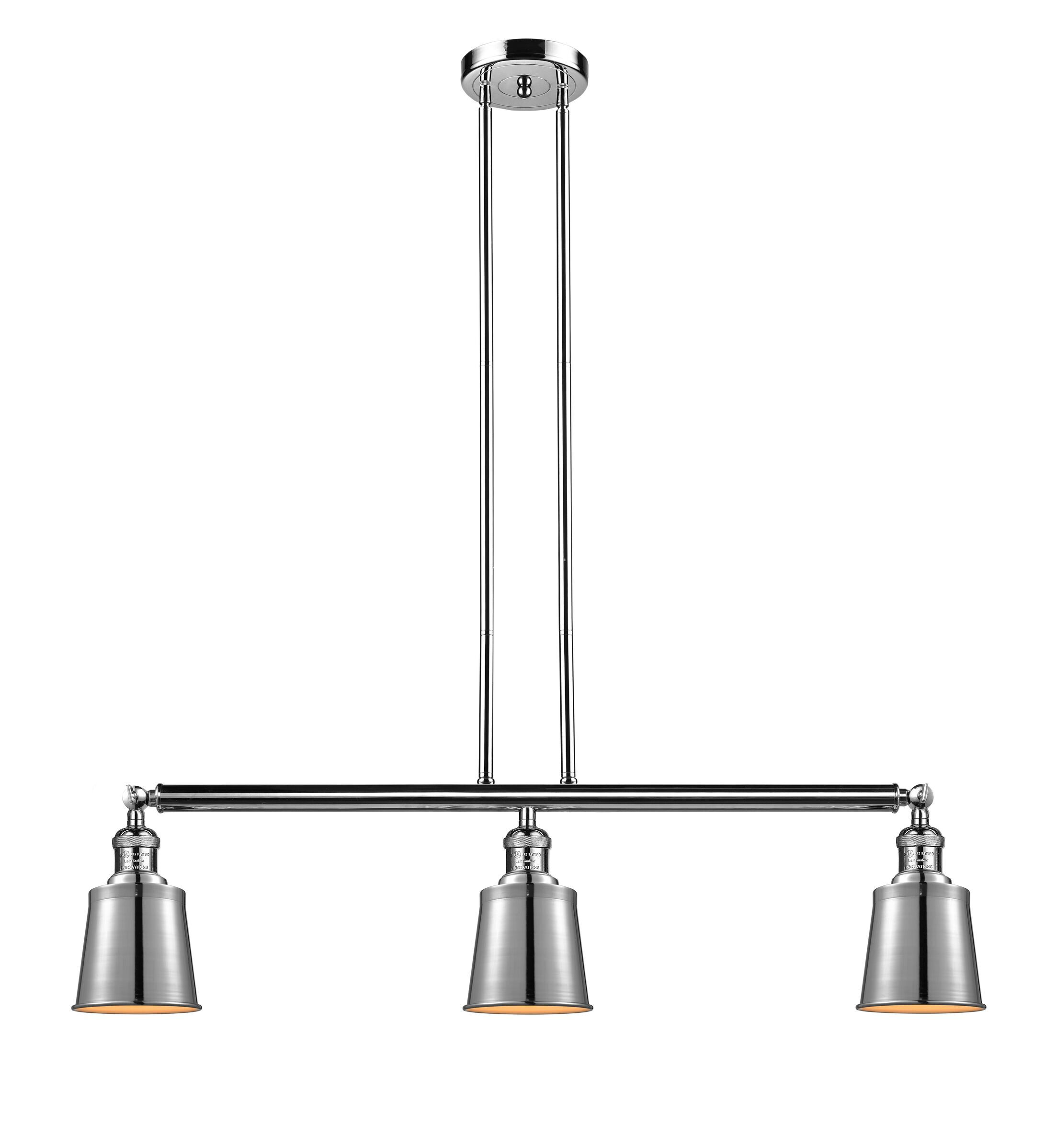 Carn 3-Light Kitchen Island Pendant Bulb Type: Incandescent, Finish: Polished Nickel