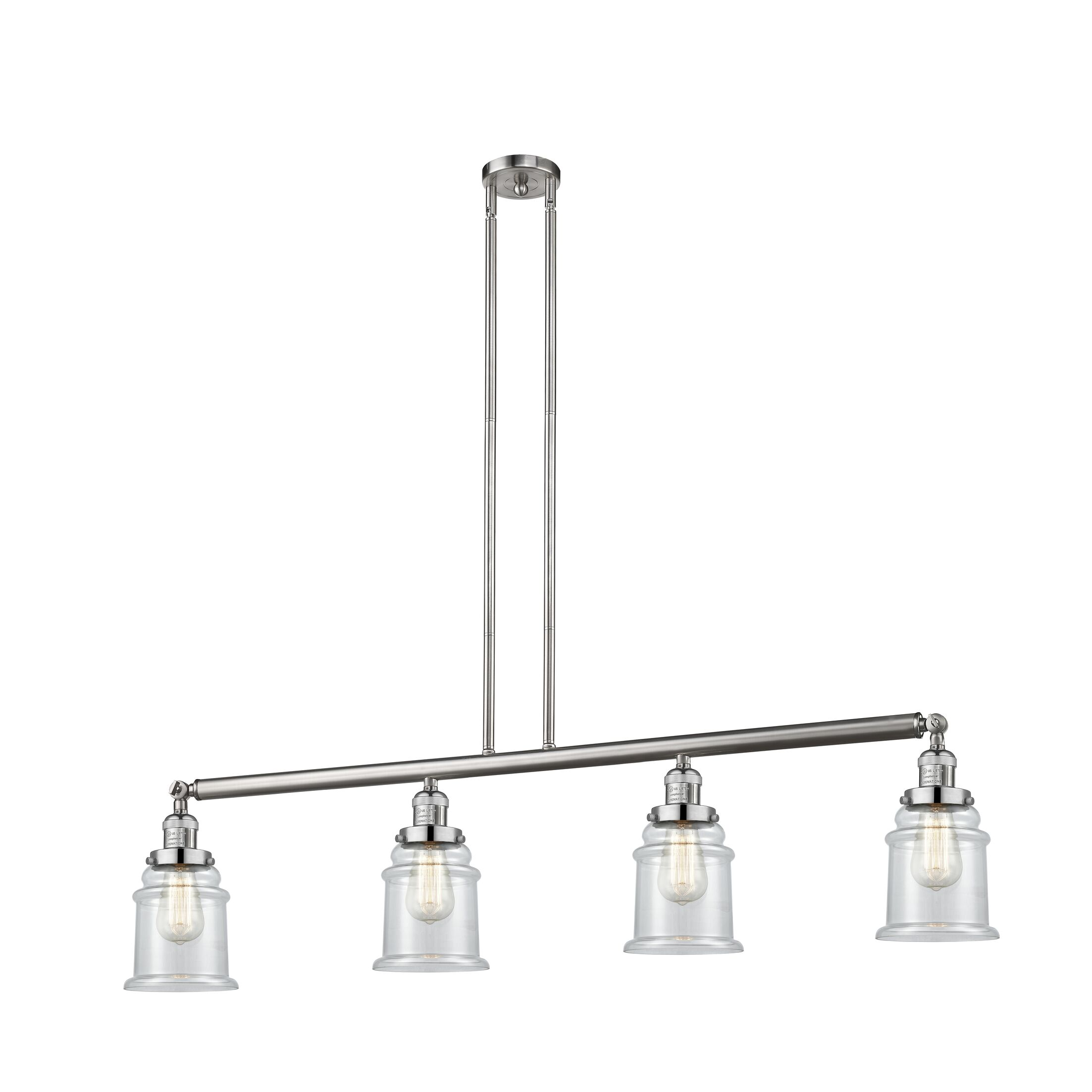 Greeley 4-Light Kitchen Island Pendant Bulb Type: Incandescent, Shade Color: Seedy, Finish: Brushed Satin Nickel