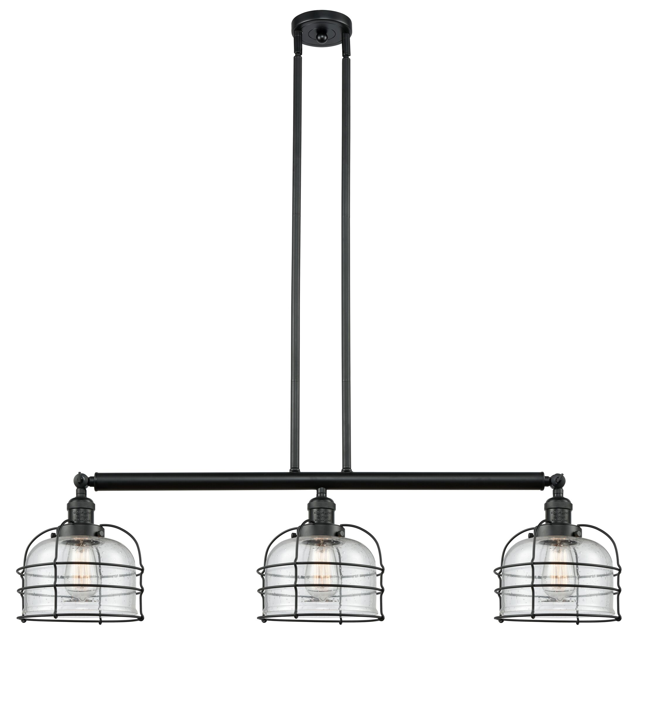 Mixon 3-Light Kitchen Island Pendant Shade Color: Matte White Cased, Bulb Type: LED