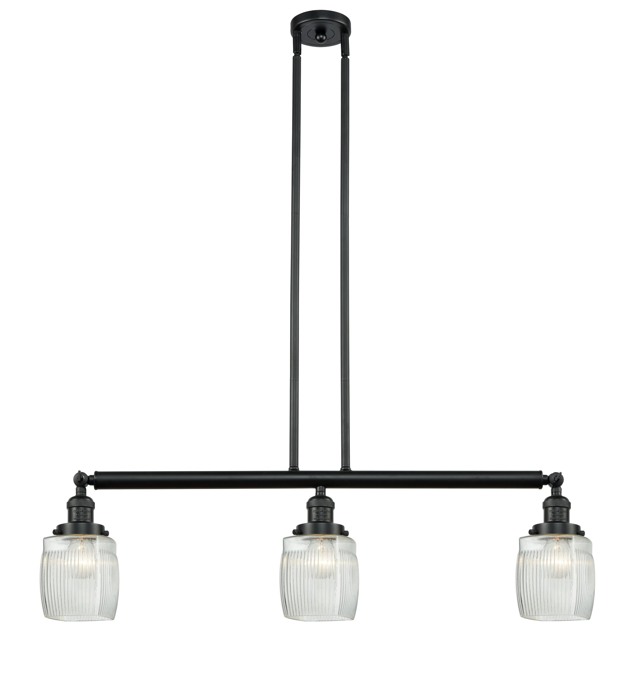 Mireya 3-Light Kitchen Island Pendant Bulb Type: Incandescent, Finish: Matte Black