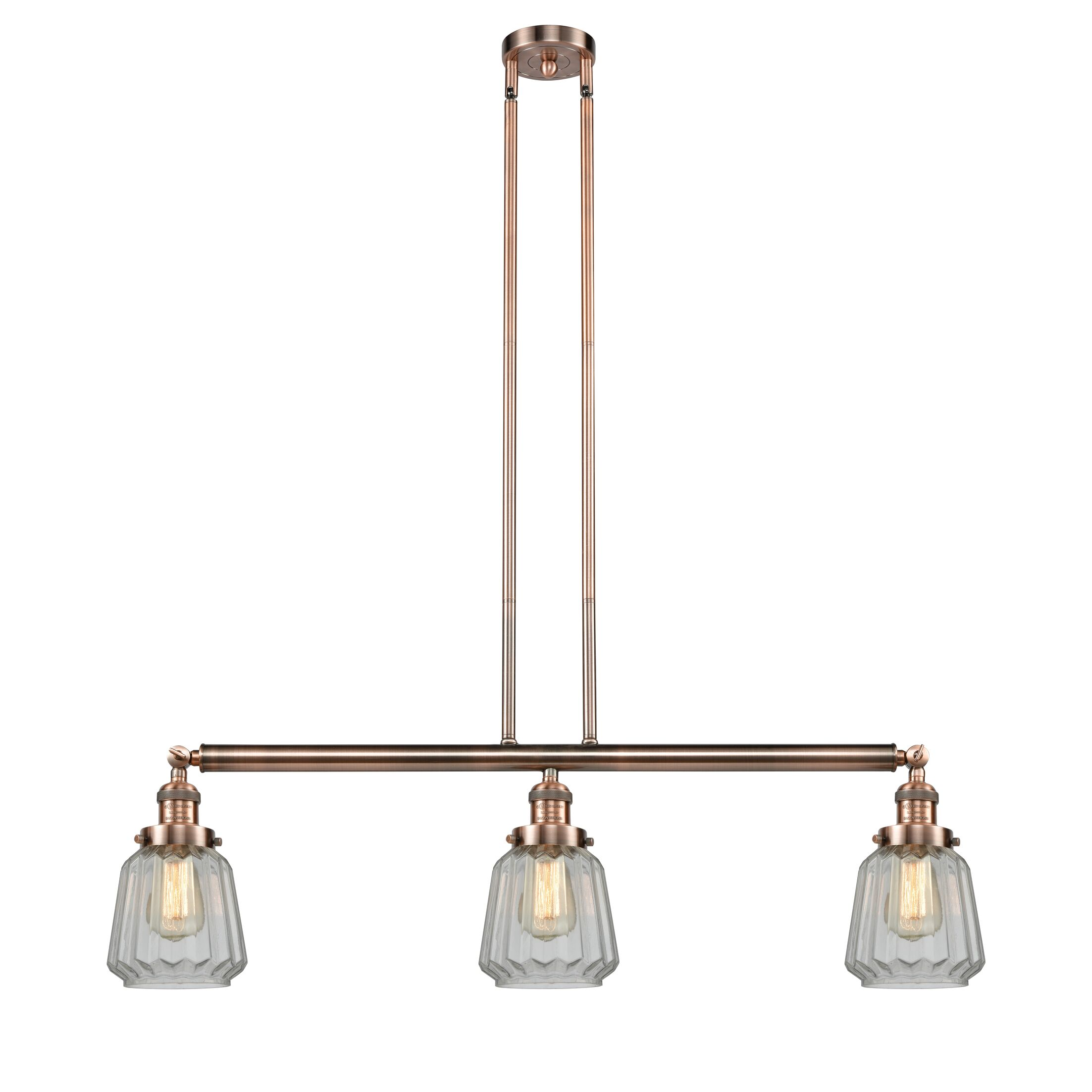 Vinson 3-Light Kitchen Island Pendant Bulb Type: Incandescent, Shade Color: Mercury Plated, Finish: Black Brushed Brass