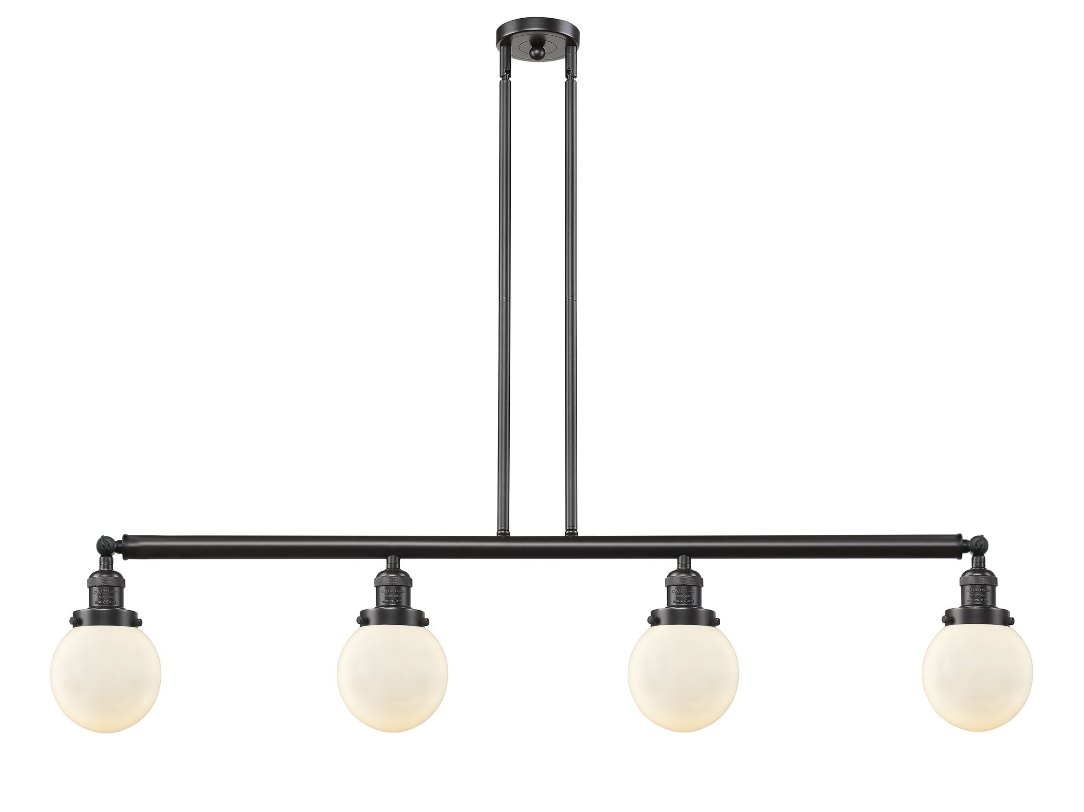 Jackeline 4-Light Kitchen Island Pendant Bulb Type: LED, Shade Color: Clear, Finish: Oil Rubbed Bronze