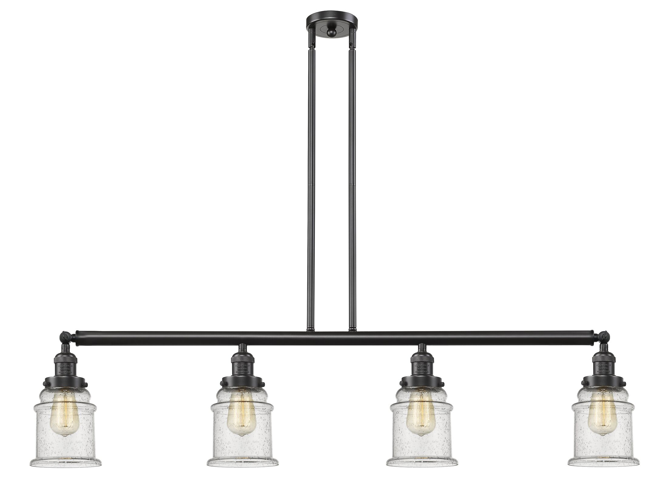Greeley 4-Light Kitchen Island Pendant Shade Color: Clear, Bulb Type: Incandescent, Finish: Oil Rubbed Bronze