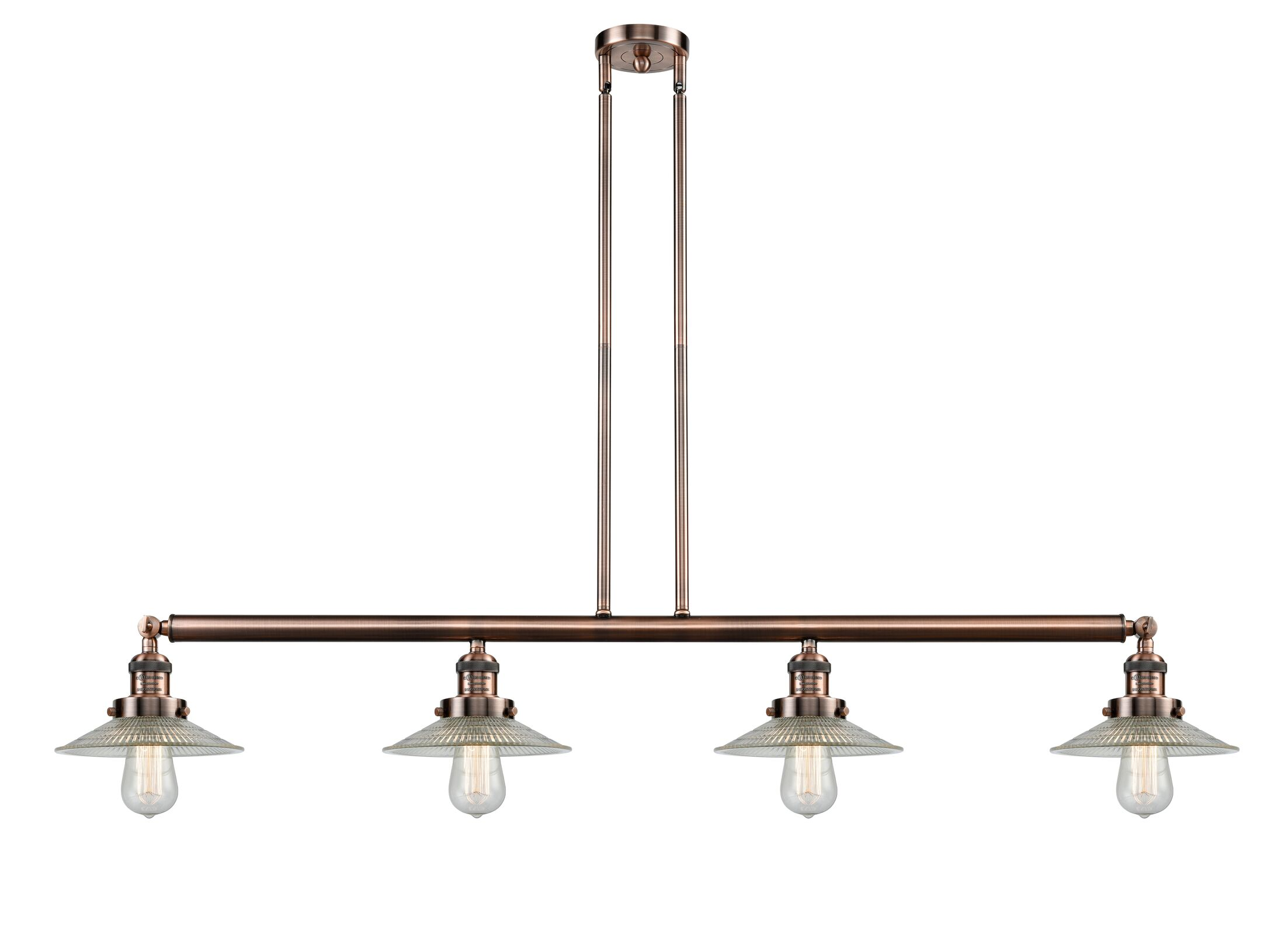 Briar 4-Light Kitchen Island Pendant Bulb Type: Incandescent, Finish: Black Brushed Brass