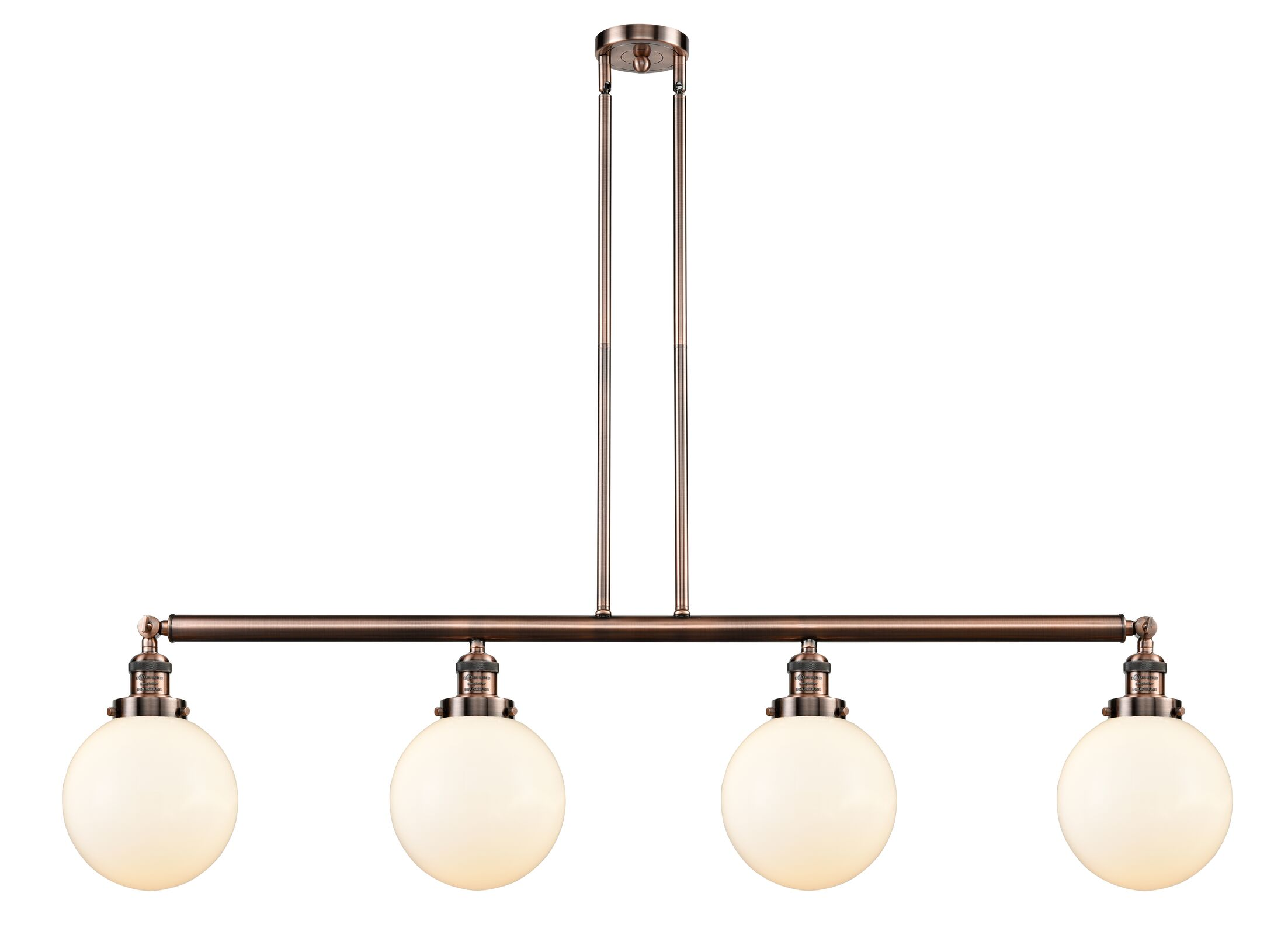 Jackeline 4-Light Kitchen Island Pendant Bulb Type: Incandescent, Shade Color: Seedy, Finish: Oil Rubbed Bronze