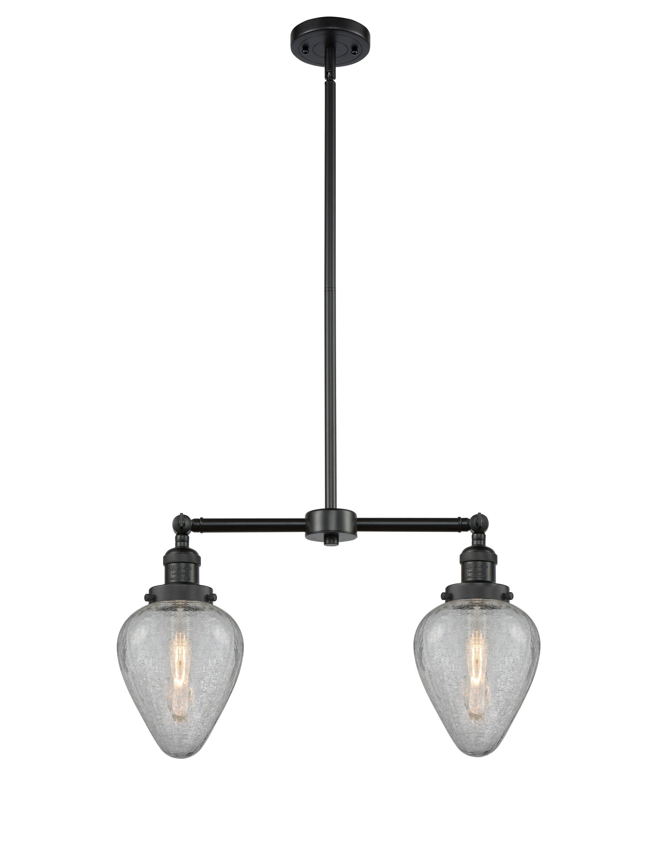 Bontrager 2-Light Kitchen Island Pendant Bulb Type: Incandescent, Finish: Matte Black