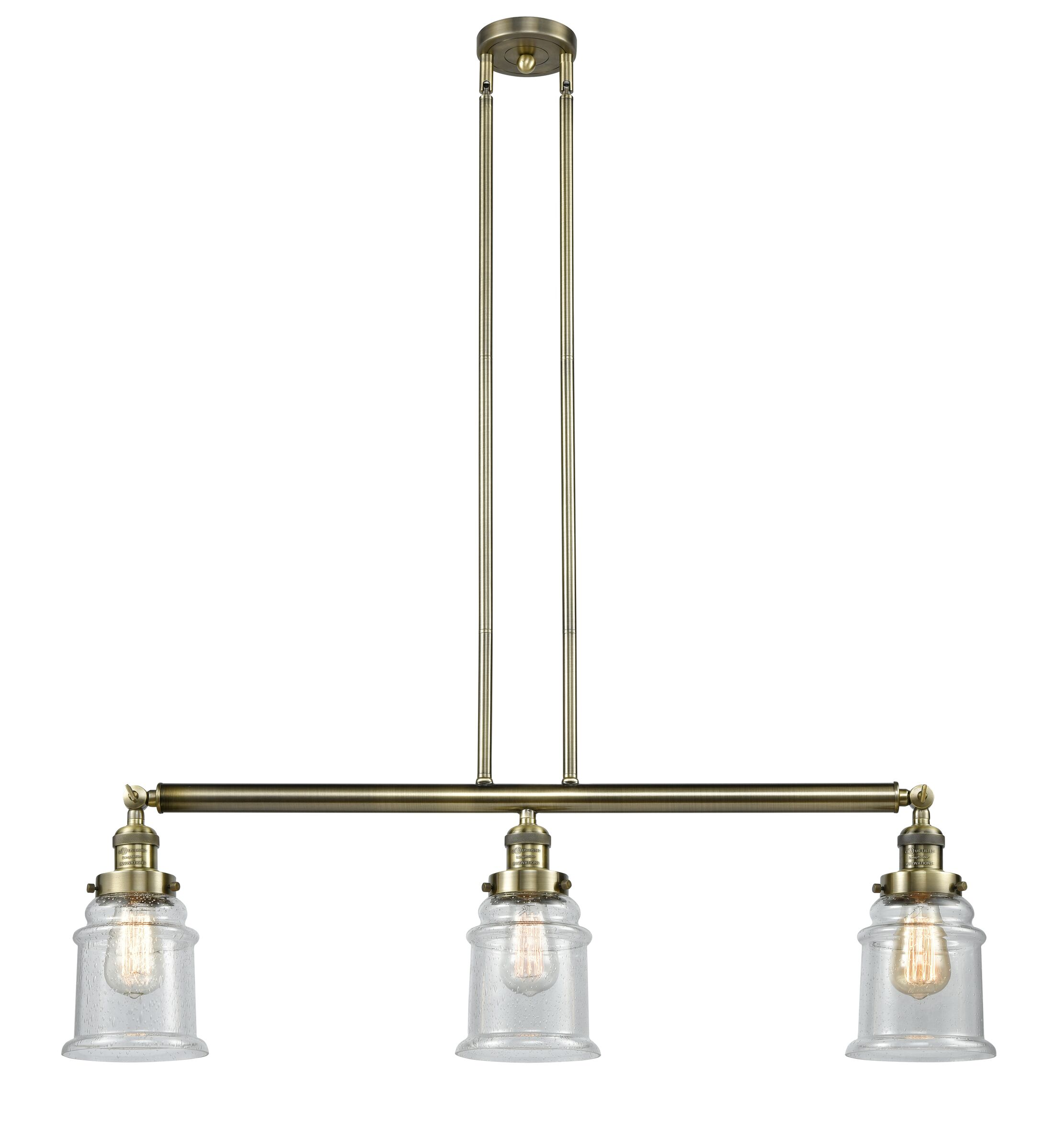 Pendant lights greeley 3 light kitchen island pendant