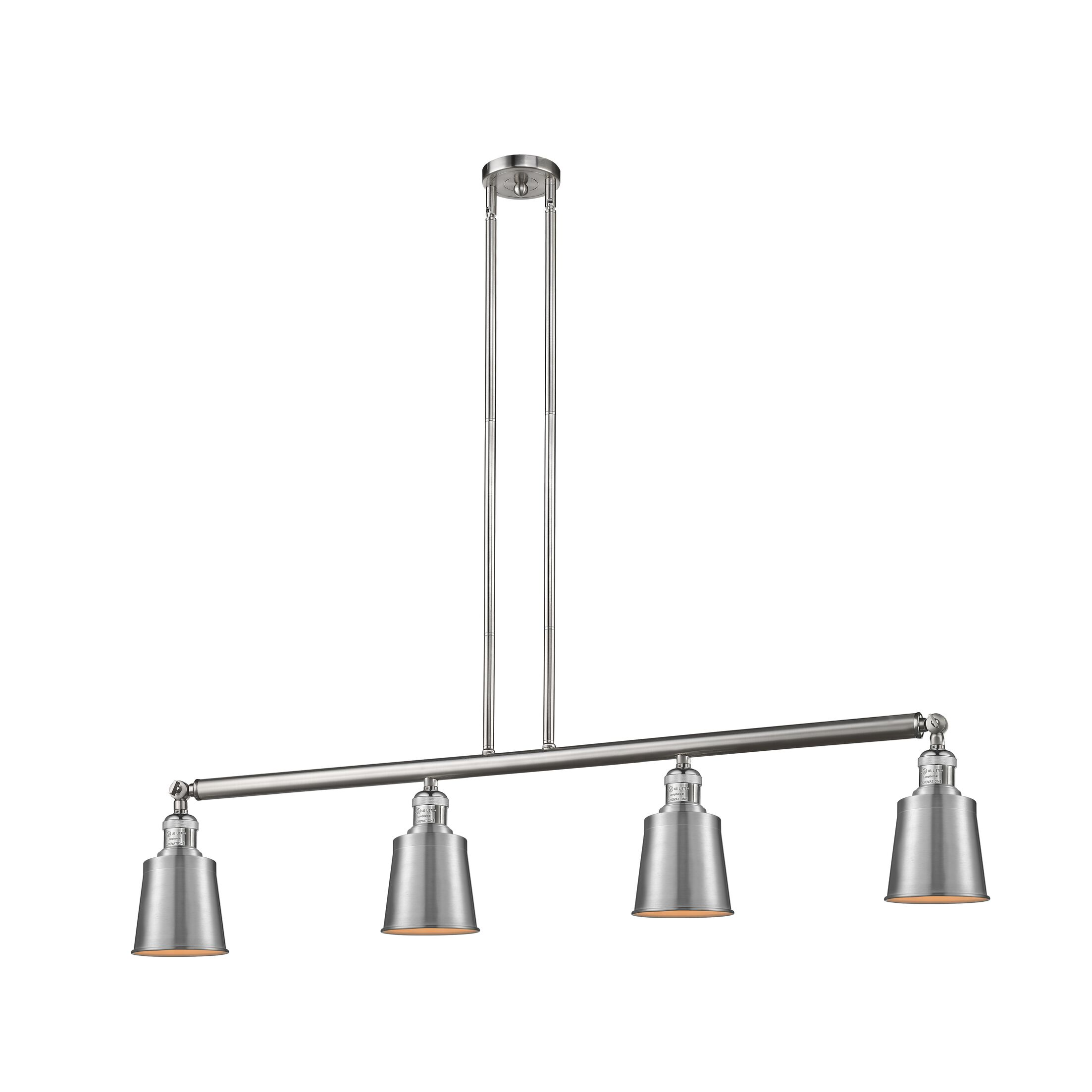 Addison 4-Light Kitchen Island Pendant Bulb Type: LED, Finish: Satin Nickel/Black
