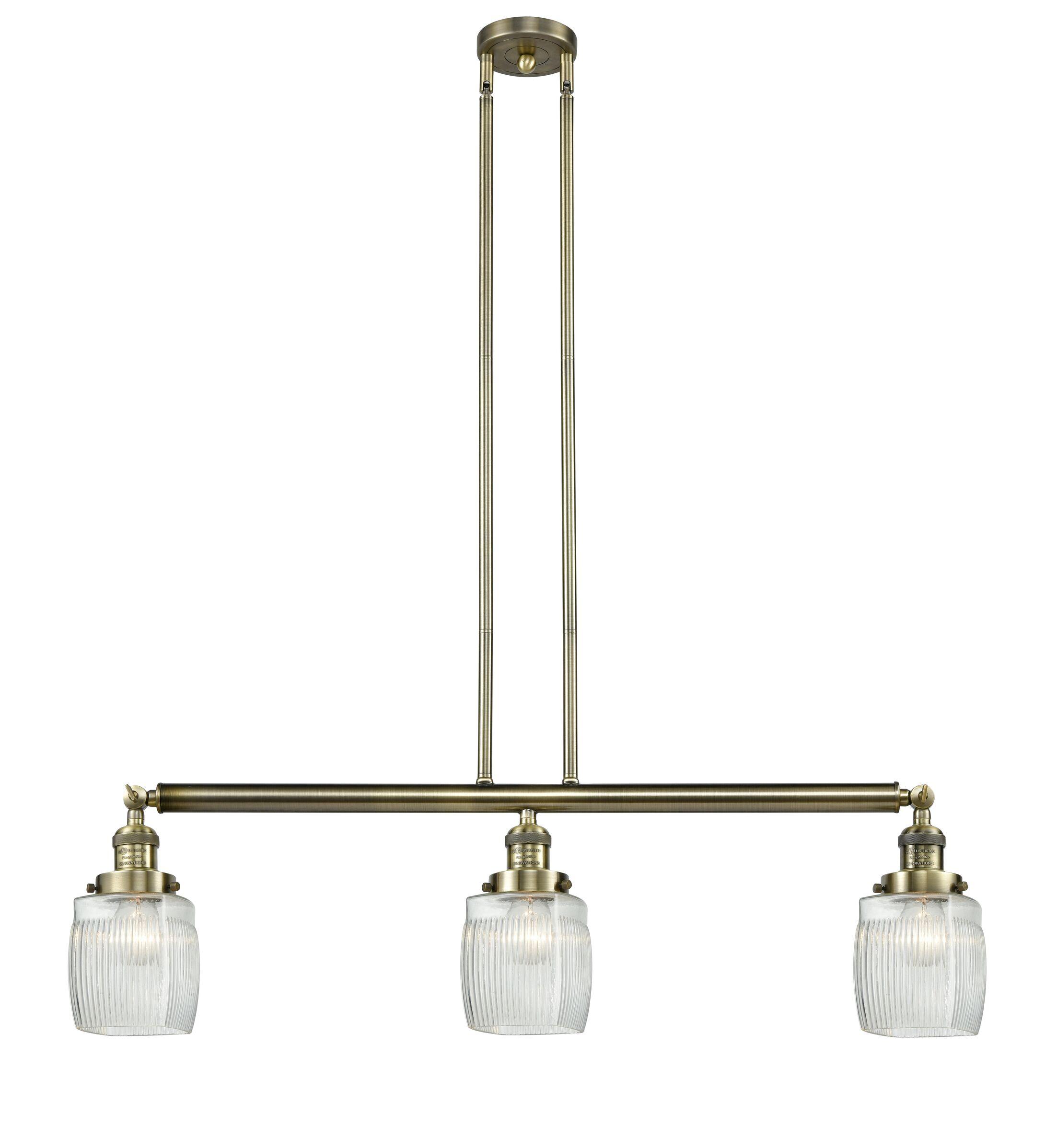 Mireya 3-Light Kitchen Island Pendant Bulb Type: LED, Finish: Black Brushed Brass