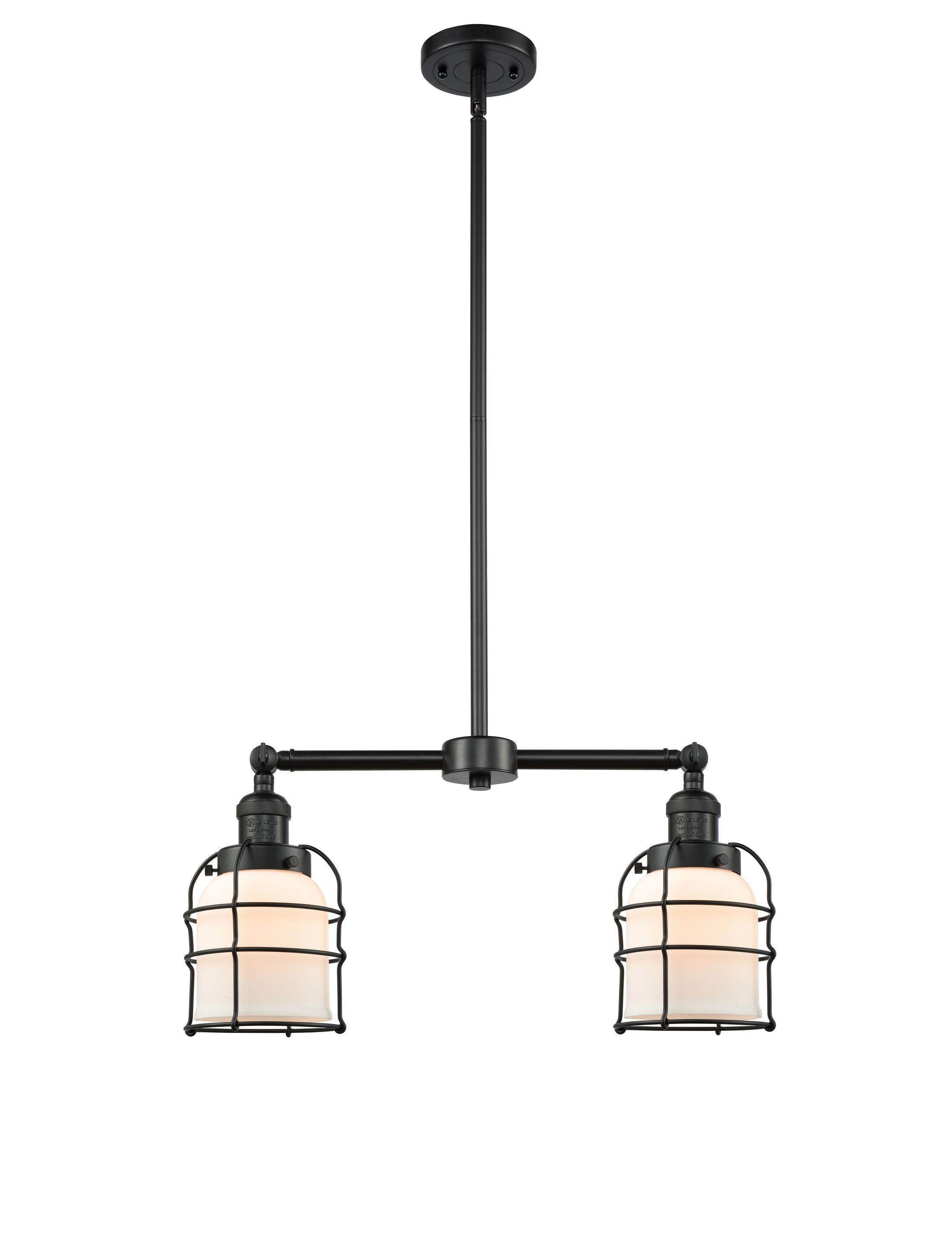 Moody 2-Light Kitchen Island Pendant Bulb Type: LED, Shade Color: Seedy