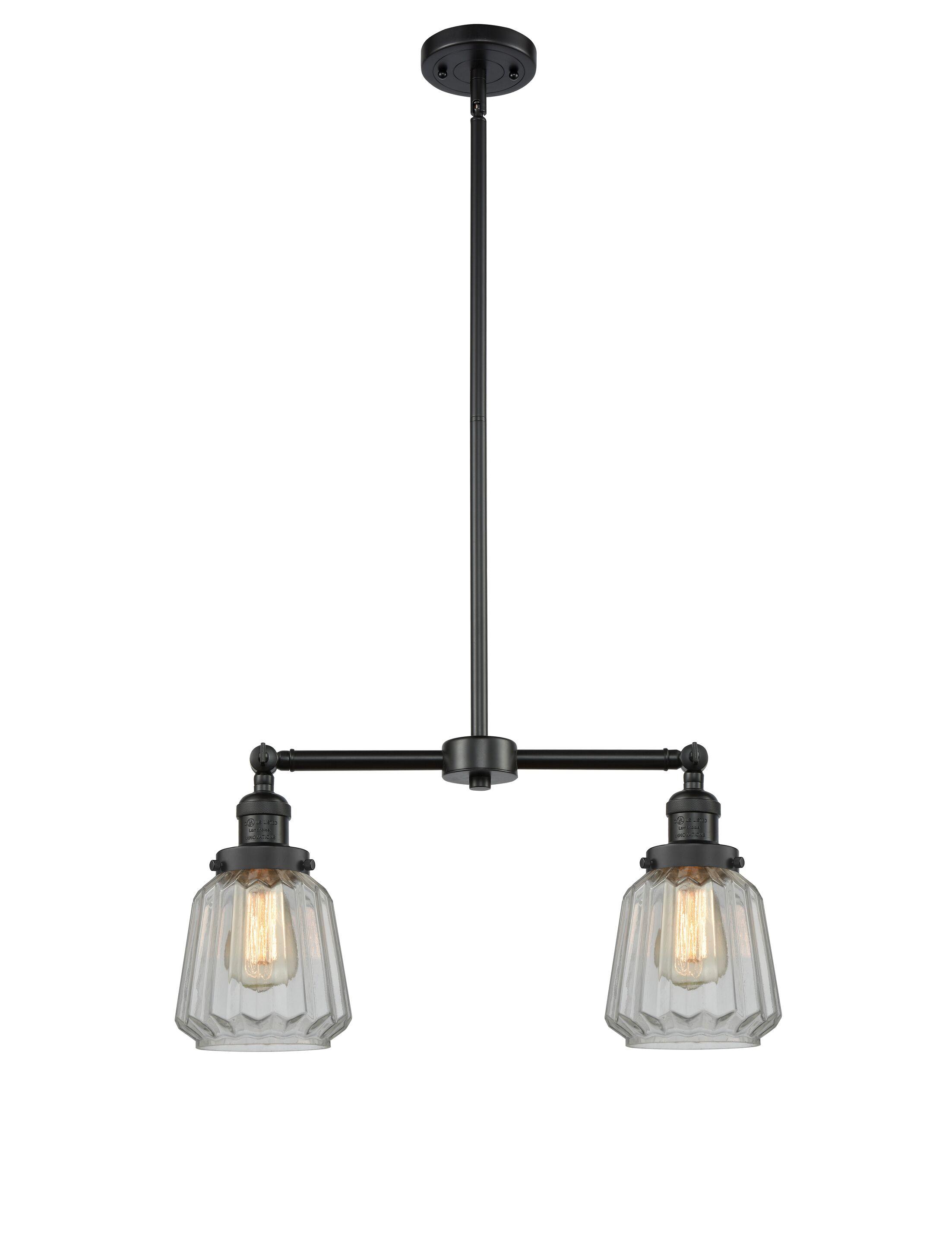 Vinson 2-Light Kitchen Island Pendant Bulb Type: LED, Shade Color: Mercury Plated, Finish: Antique Copper