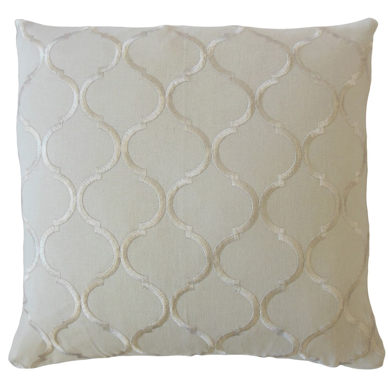 Burnham Geometric Linen Pillow Size: 20