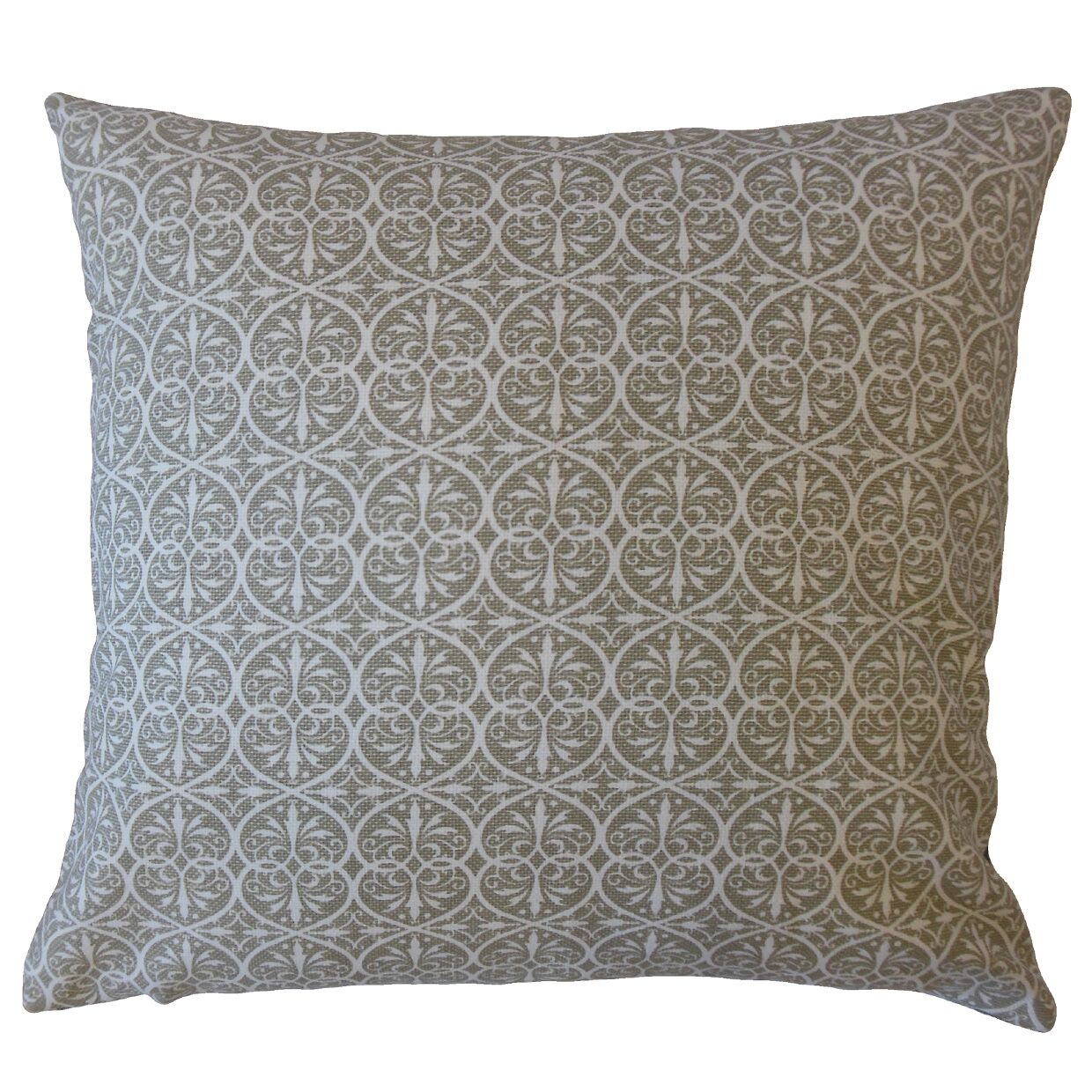 Walters Damask Pillow Color: Pewter, Size: 24