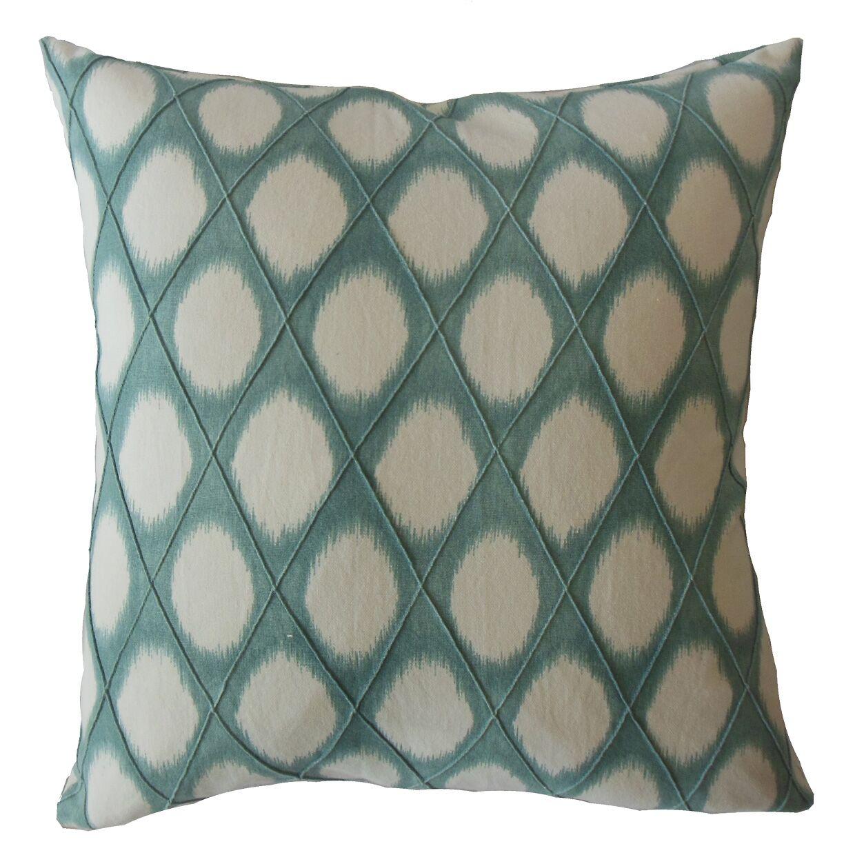 Koenig Geometric Cotton Pillow Size: 22