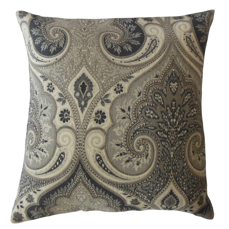 Mercado Damask Linen Pillow Size: 22