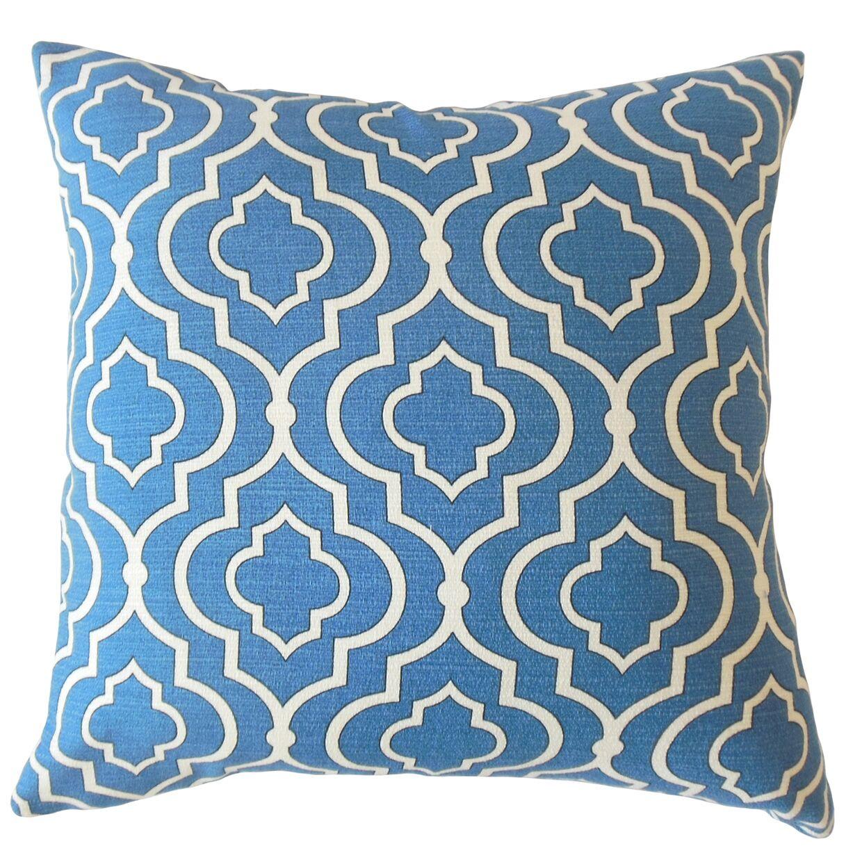 Burger Geometric Cotton Pillow Size: 24