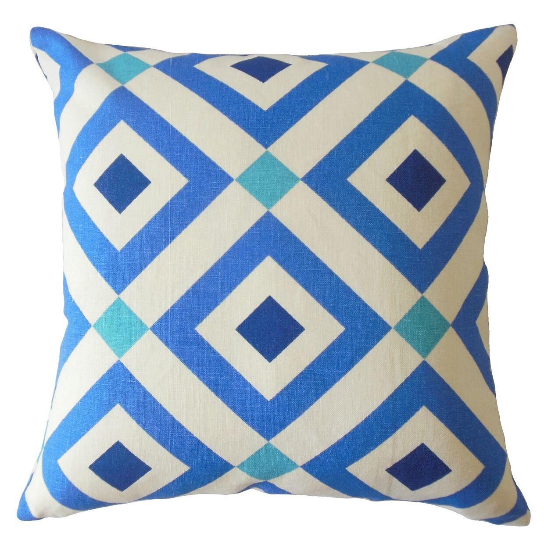 Zephyrine Geometric Cotton Pillow Size: 22