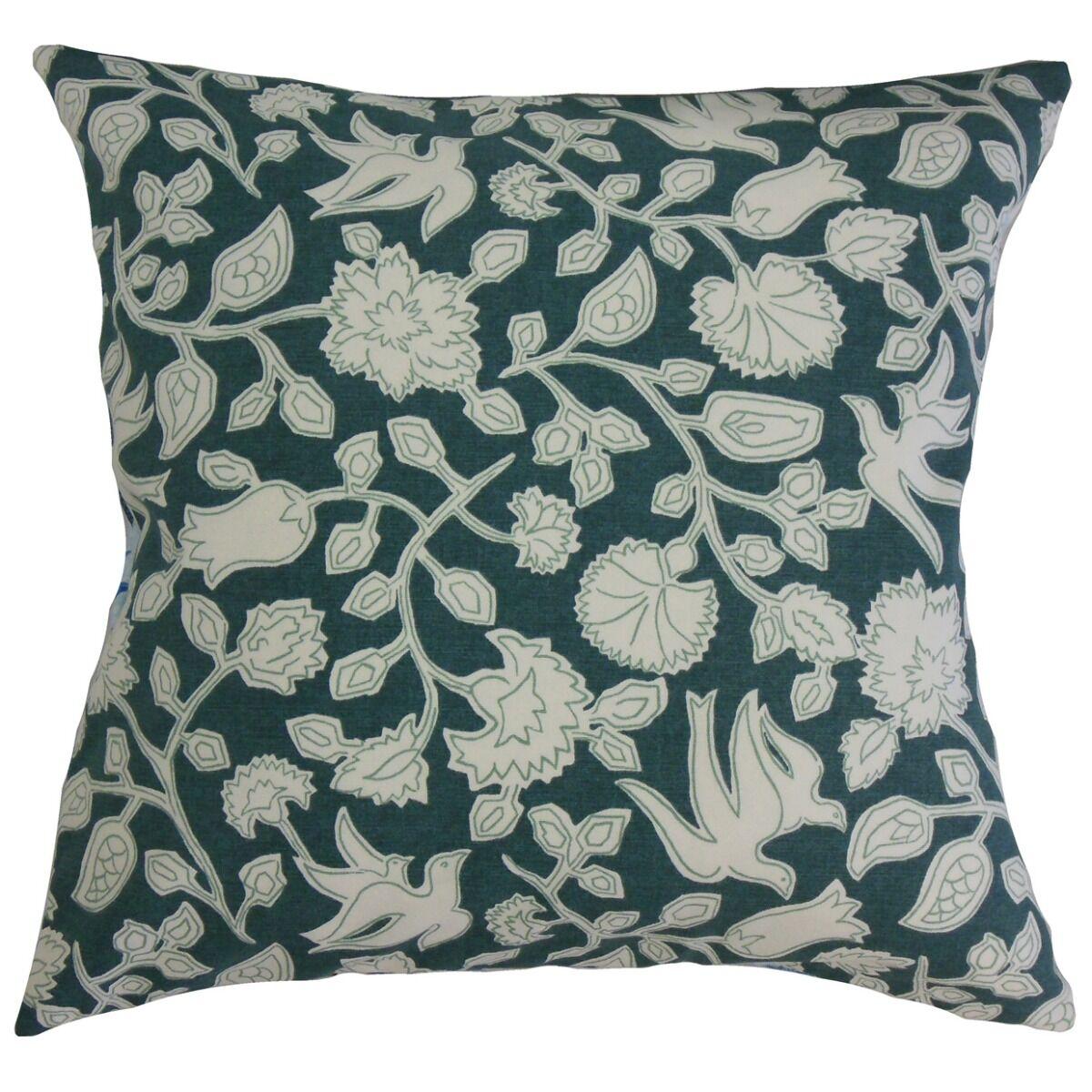 Makaila Floral Cotton Pillow Size: 18