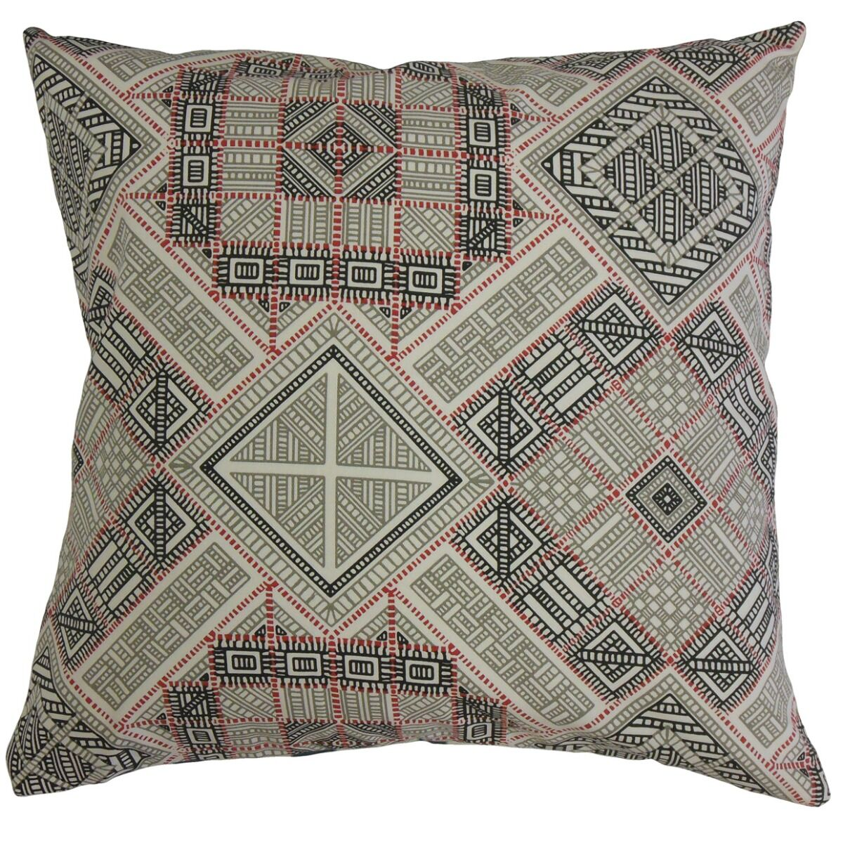 Missouri Geometric Cotton Pillow Size: 20