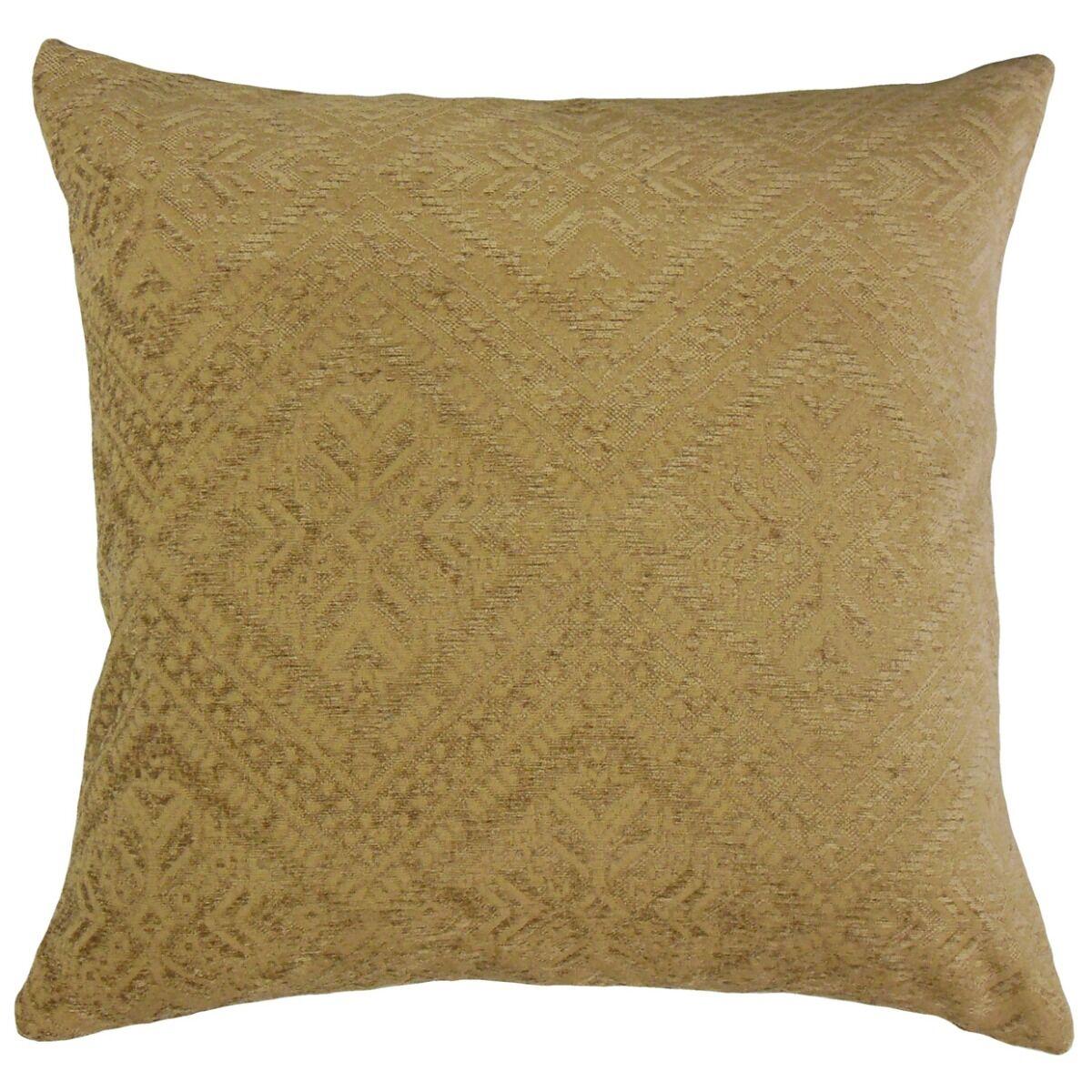 Mountview Geometric Velvet Pillow Size: 24