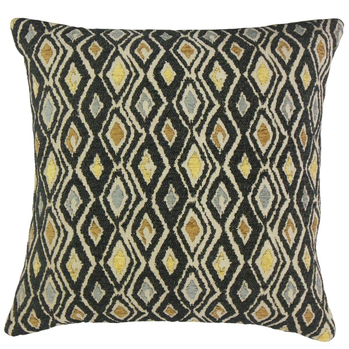 Lancaster Ikat Pillow Color: Black, Size: 22