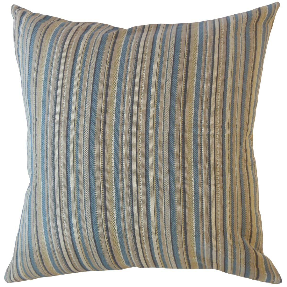 Biggins Striped Pillow Color: Mist, Size: 24