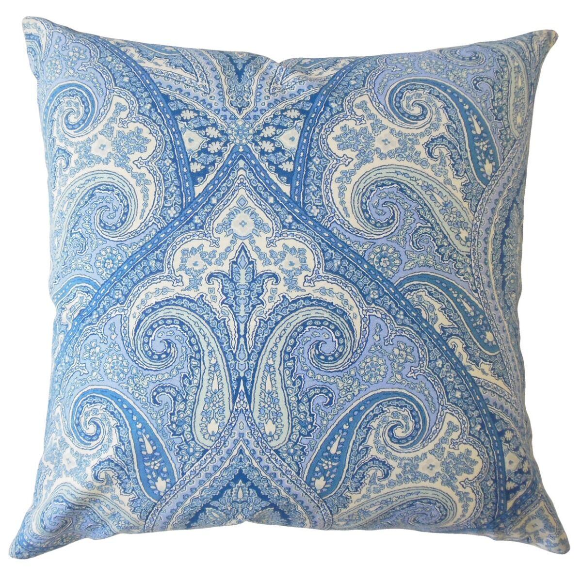 Hibbler Paisley Cotton Pillow Size: 22