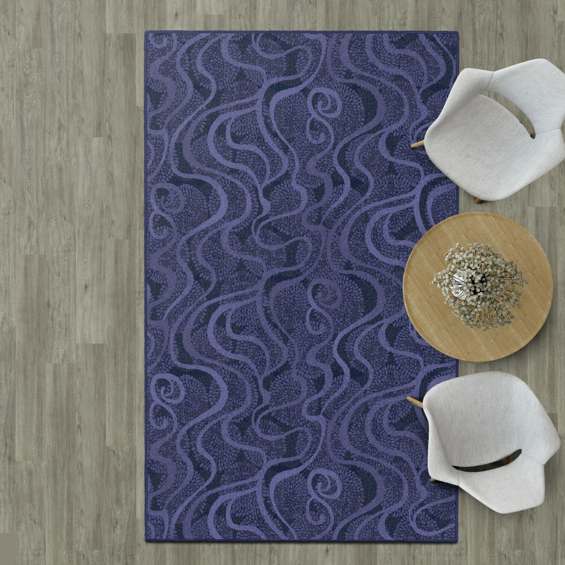 Decimus Purple Area Rug Rug Size: Rectangle 5' x 8'
