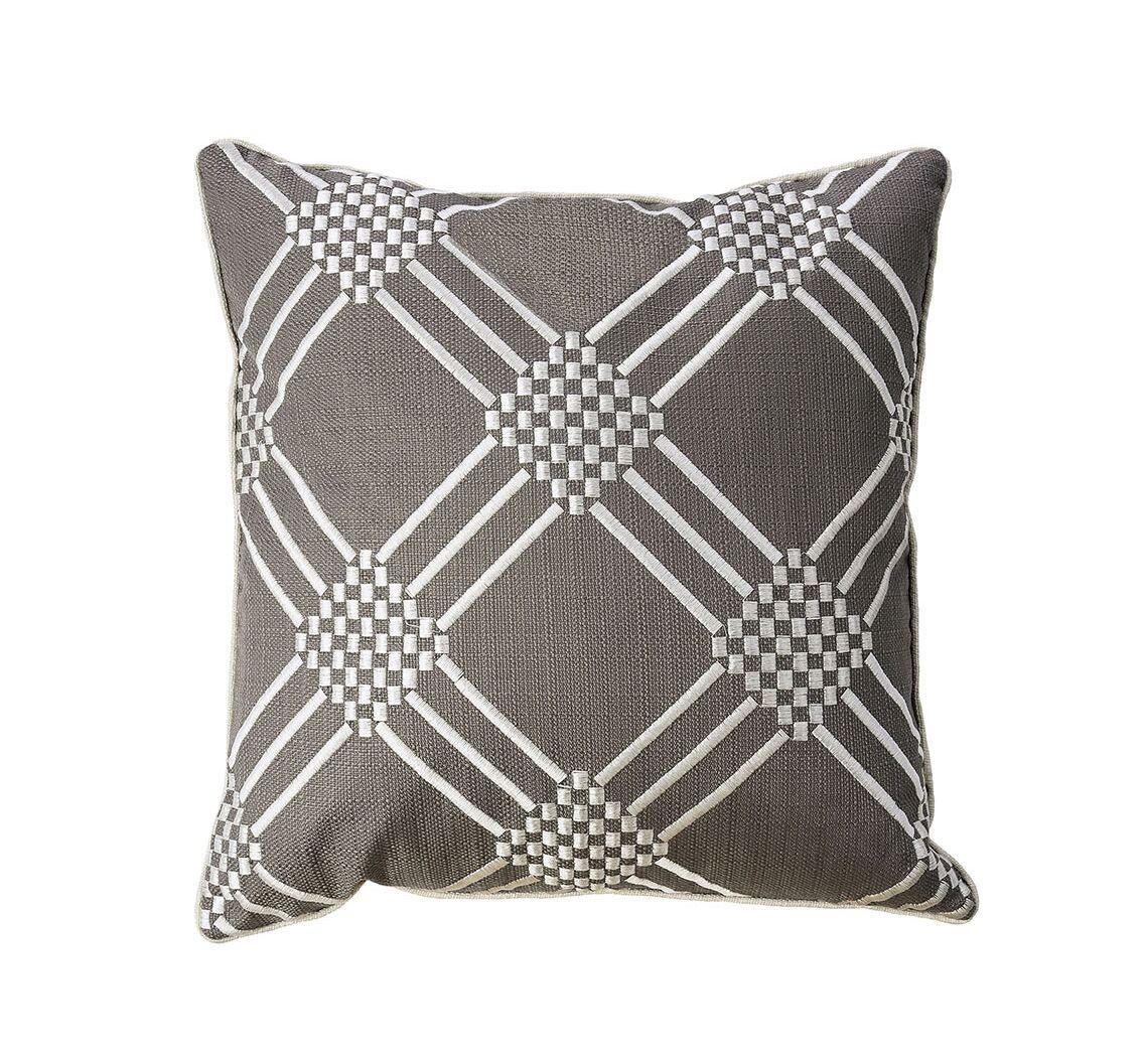 Beth Contemporary Throw Pillow Color: Gun Metal/Gray