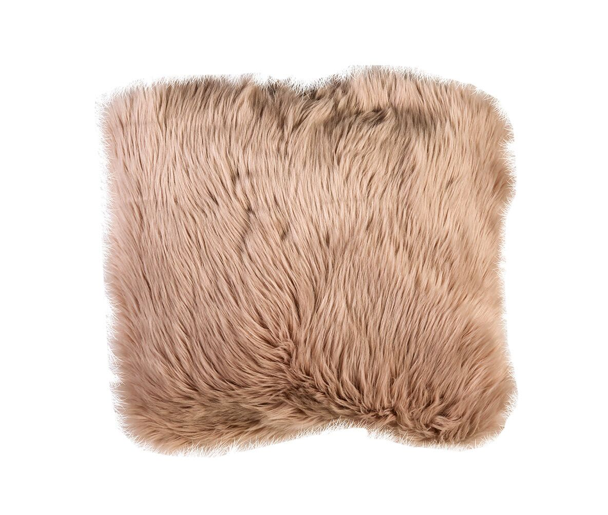 Gellert Contemporary Shaggy Throw Pillow Color: Blush