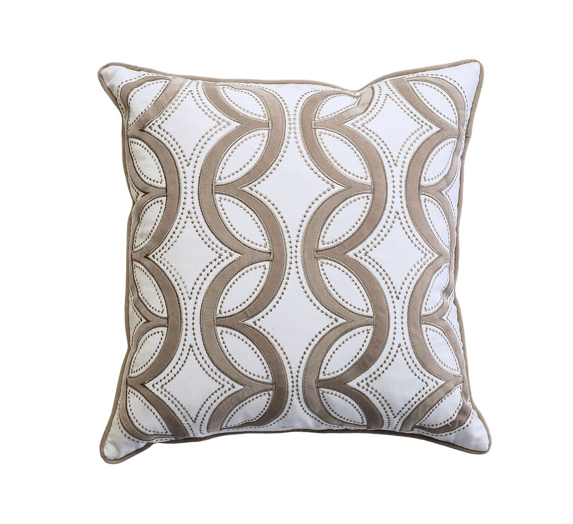 Nicholas Contemporary Waterflow Feather Cotton Throw Pillow