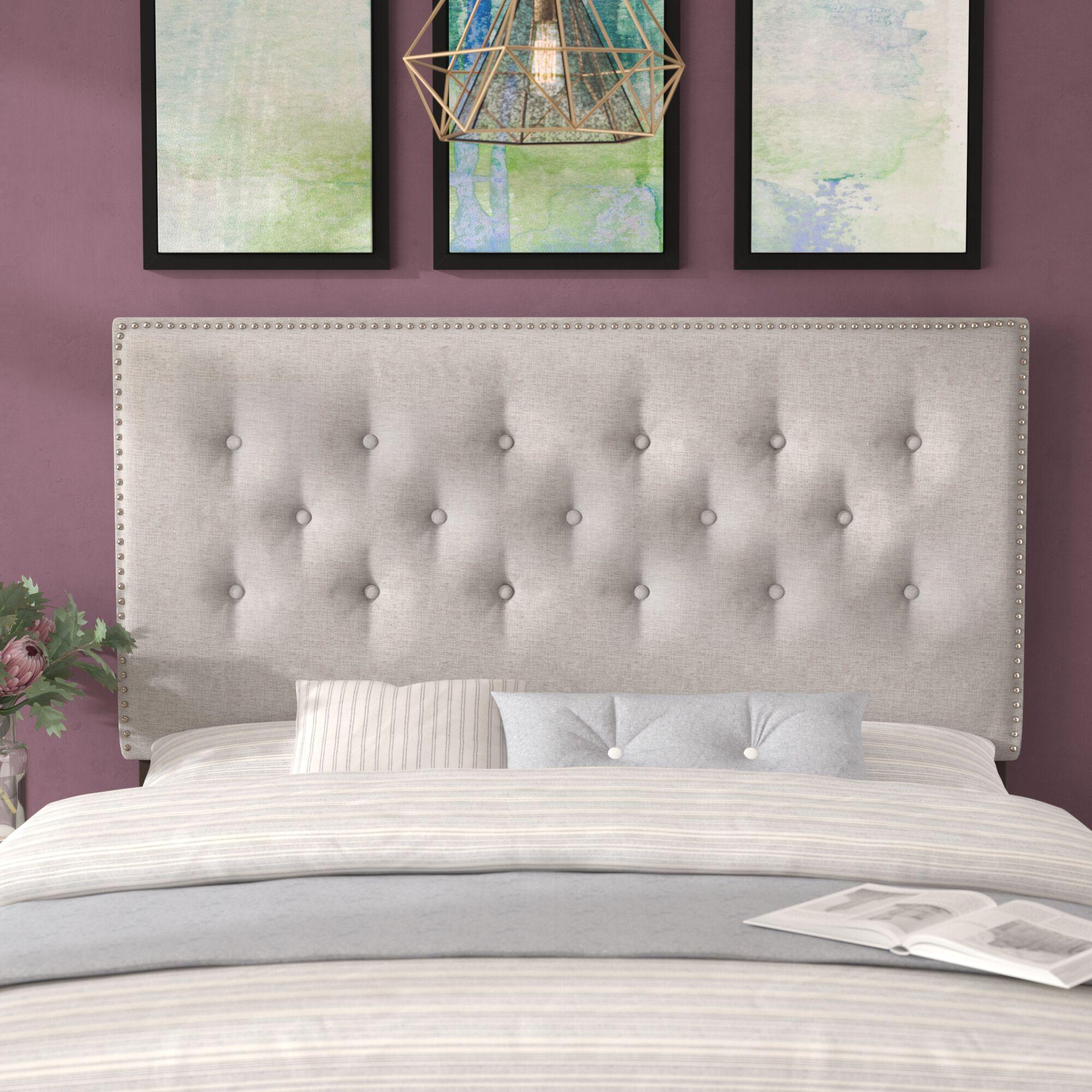 Planas Upholstered Panel Headboard Color: Beige, Size: King