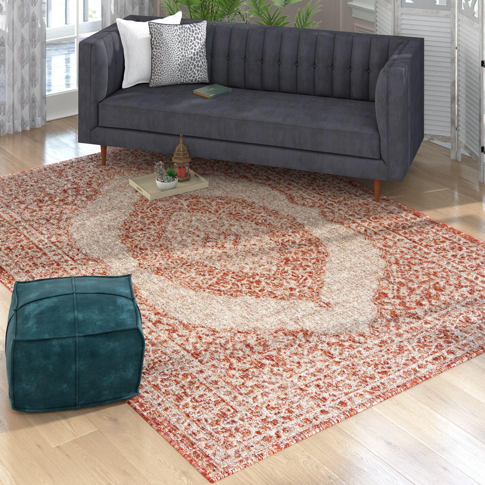 Myers Light Beige/Terracotta Indoor/Outdoor Area Rug Rug Size: Rectangle 8' x 11'