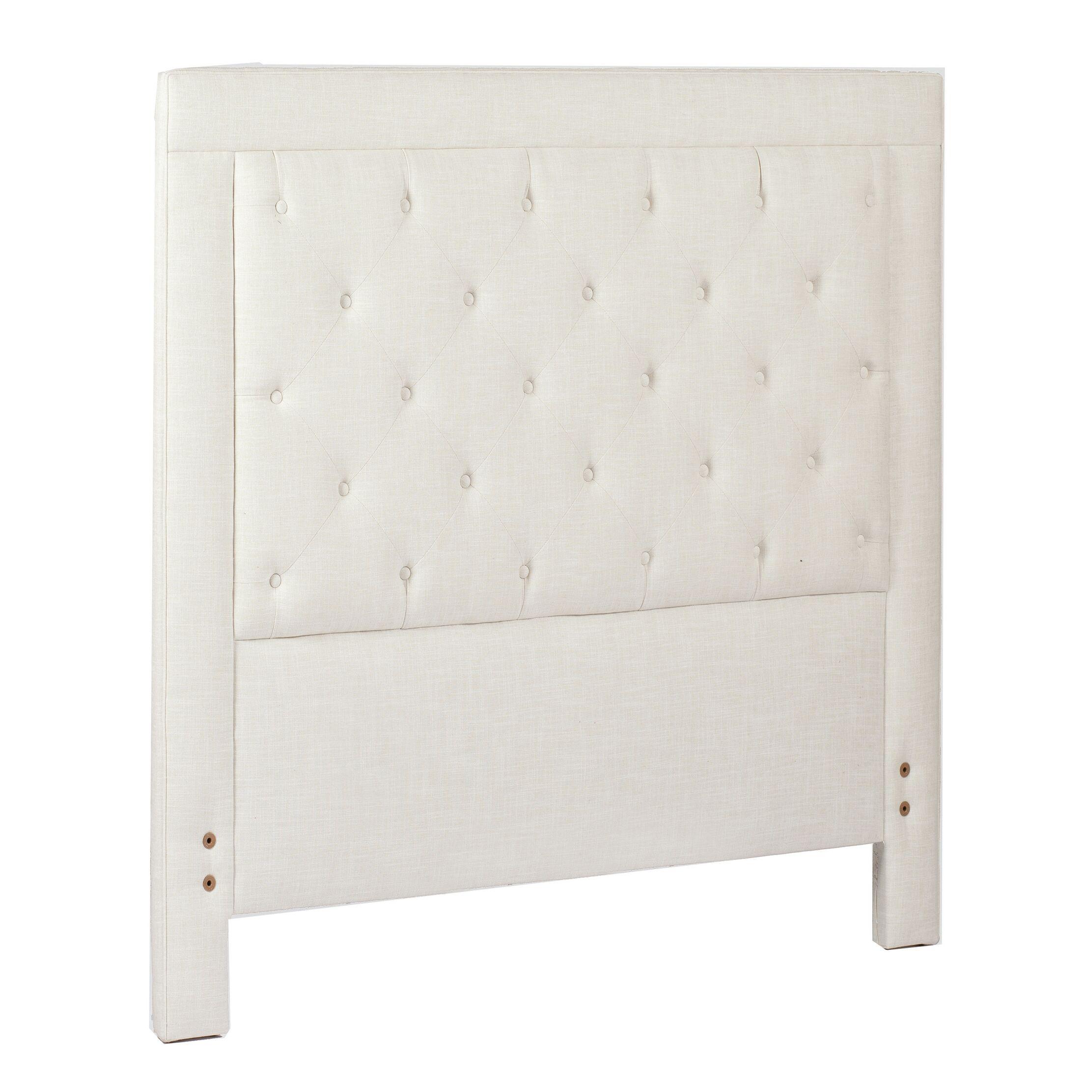 Darcy Upholstered Panel Headboard Size: King, Upholstery: Zulu Vanilla