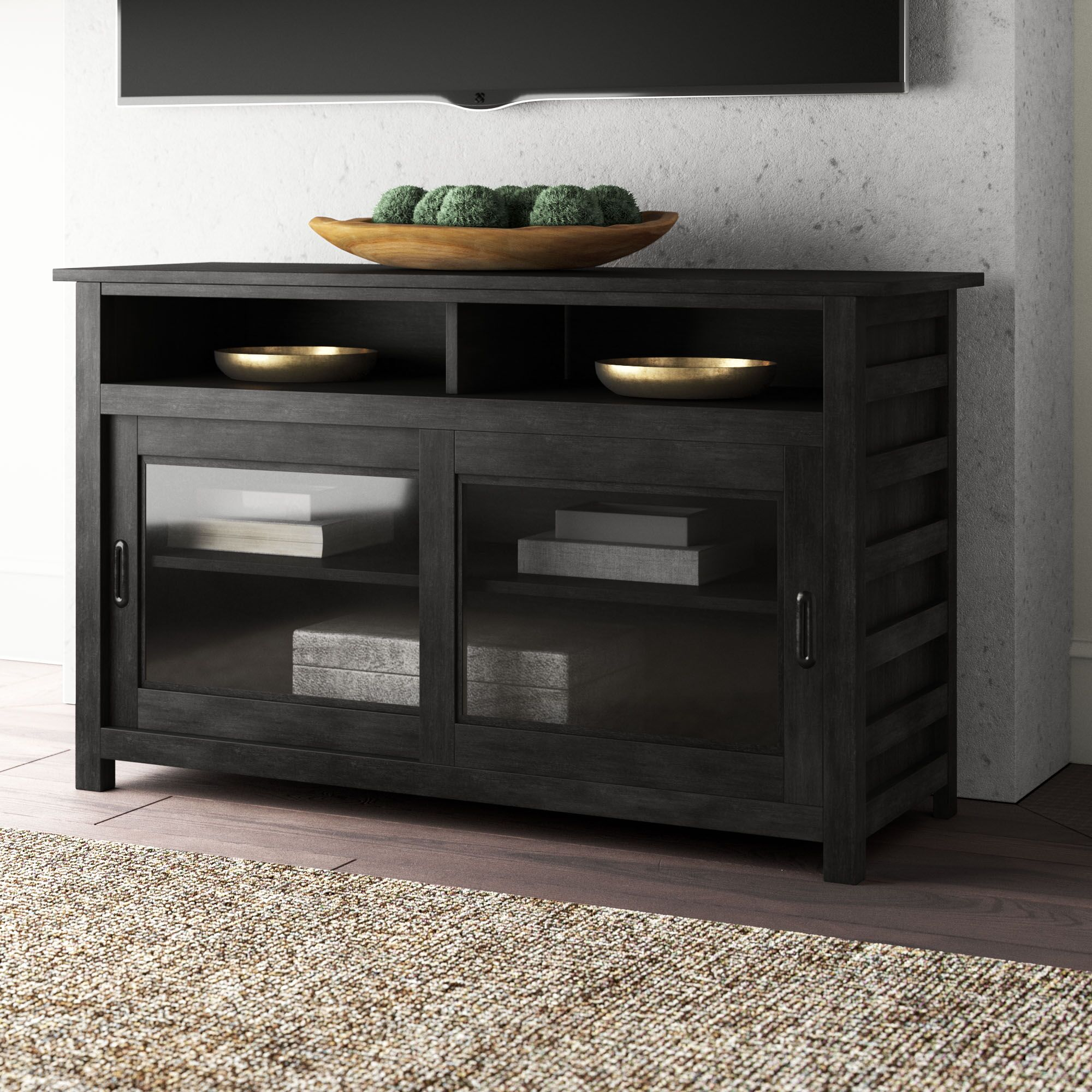 Arbyrd TV Stand Color: Ebonized Acacia, Width of TV Stand: 54