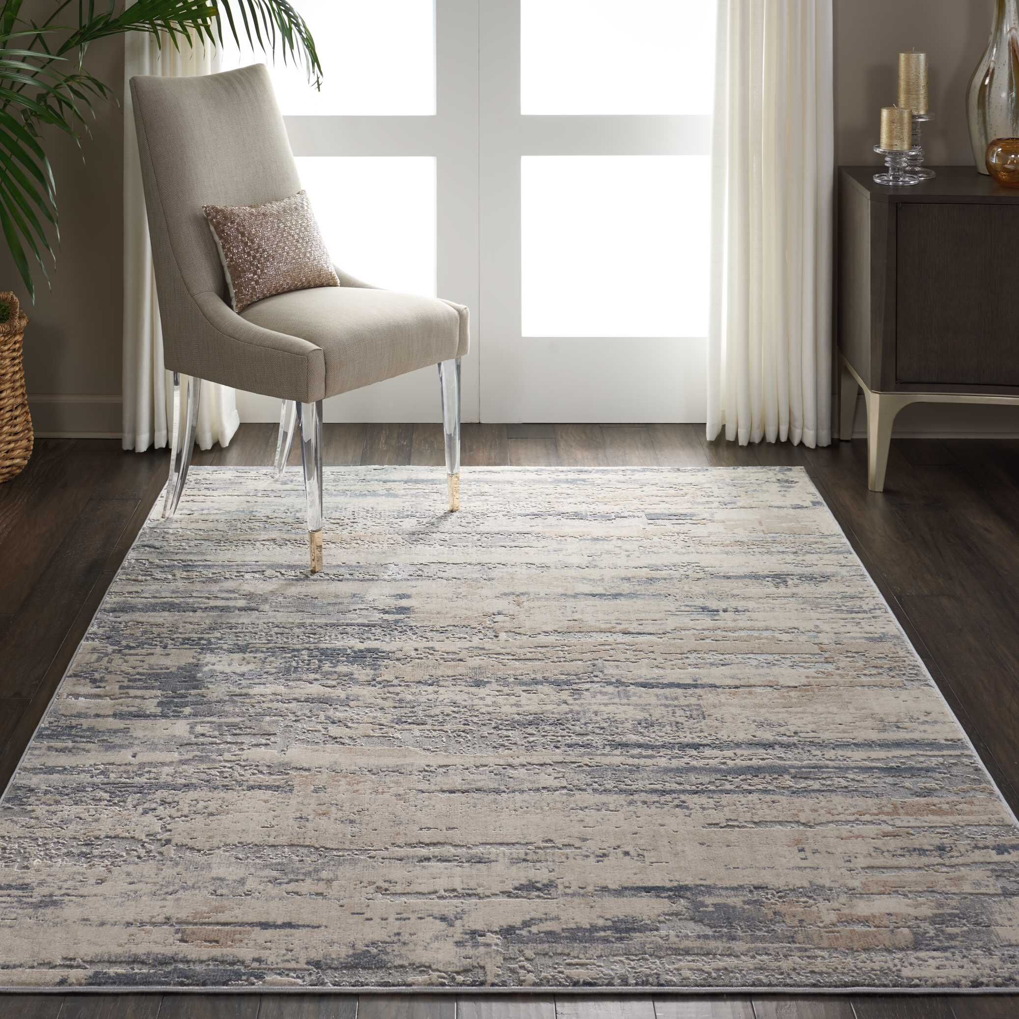 Comer Abstract Beige/Gray Area Rug Rug Size: Rectangle 5'3