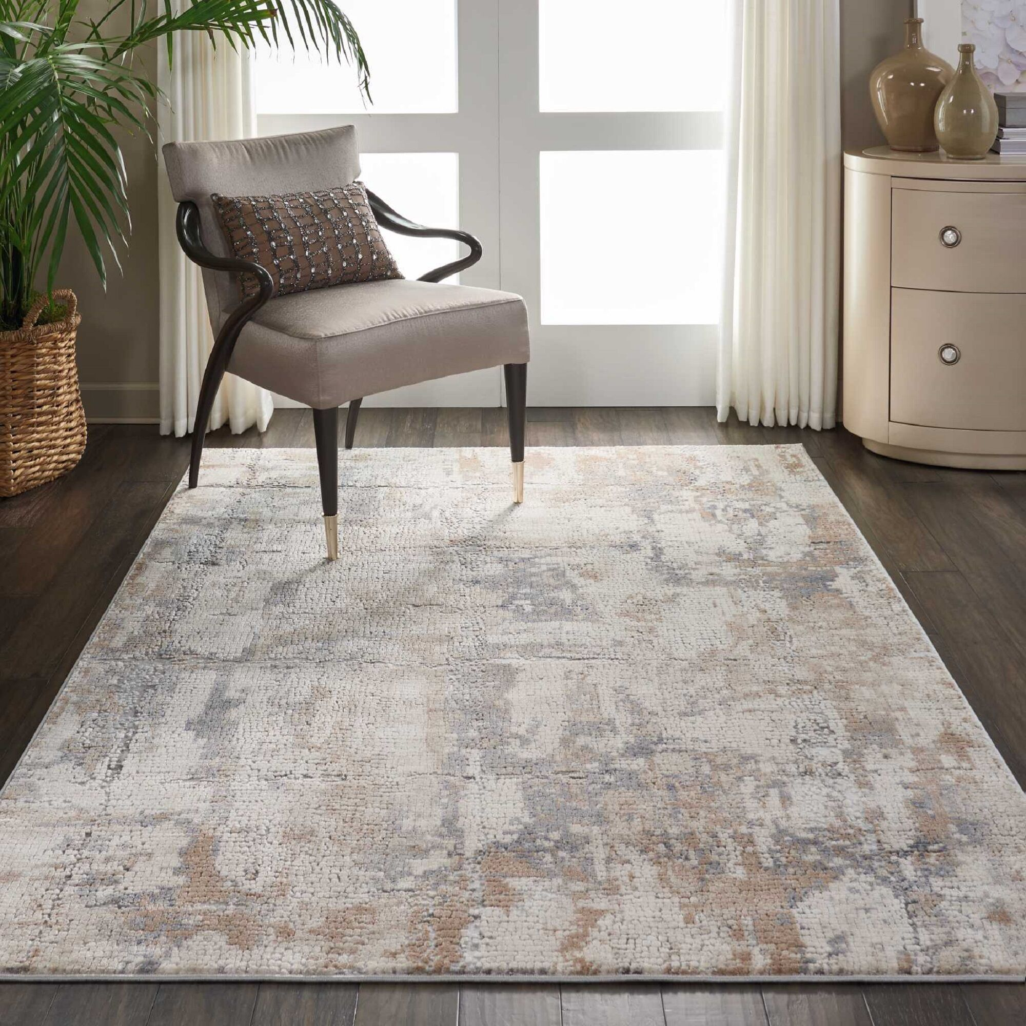 Comer Abstract Beige/Gray Area Rug Rug Size: Rectangle 3'11