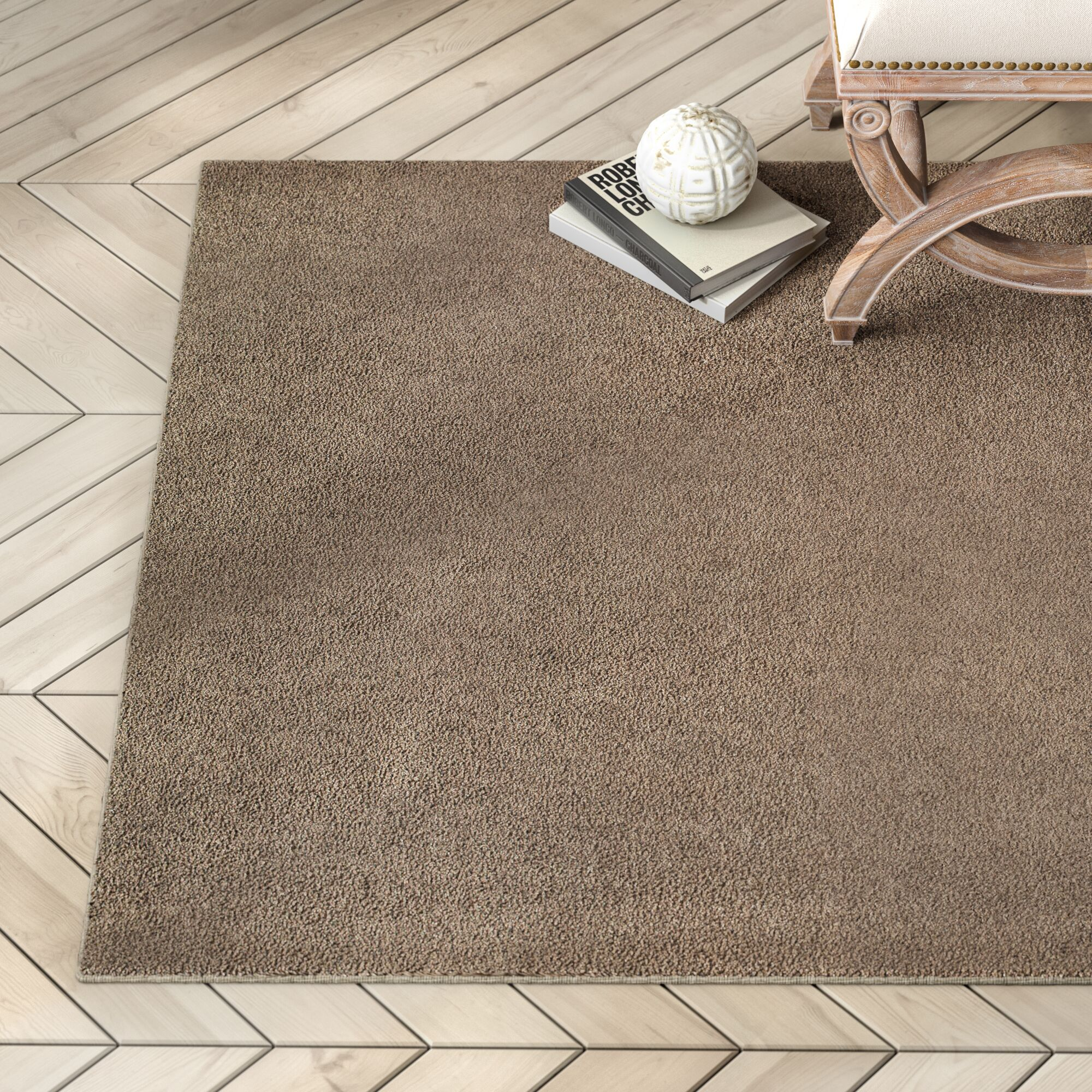Battlefield Brown Area Rug Rug Size: Rectangle 3'10
