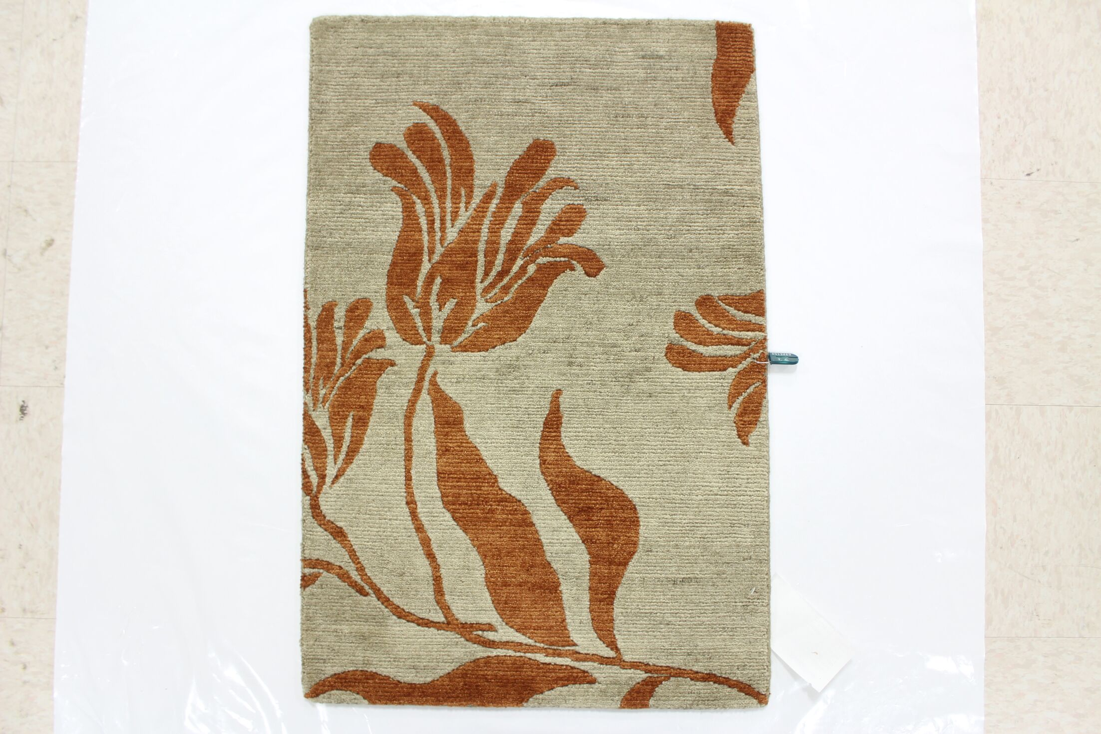 One-of-a-Kind Darwen Hand-Knotted Wool Beige/Red Area Rug