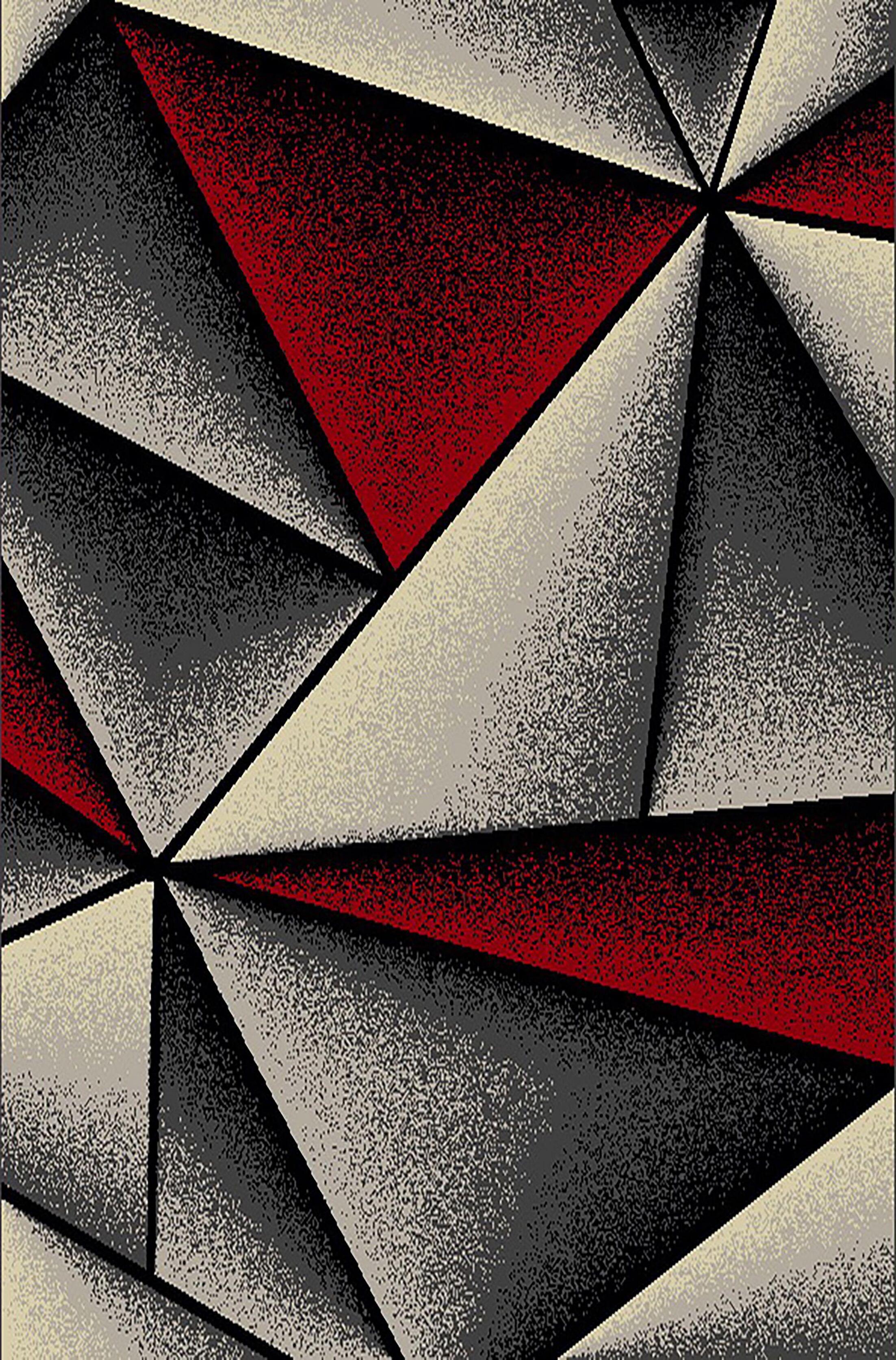 Cosper Red/Gray Area Rug
