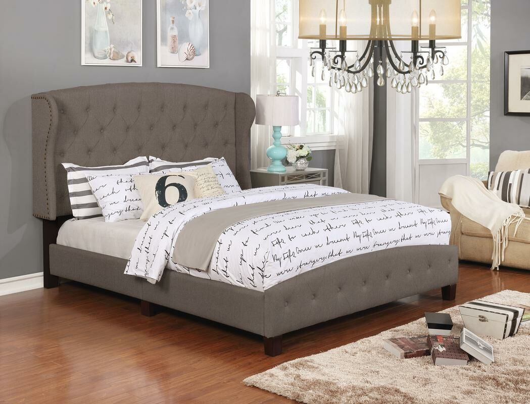 Vanesa Upholstered Panel Bed Color: Brown, Size: King